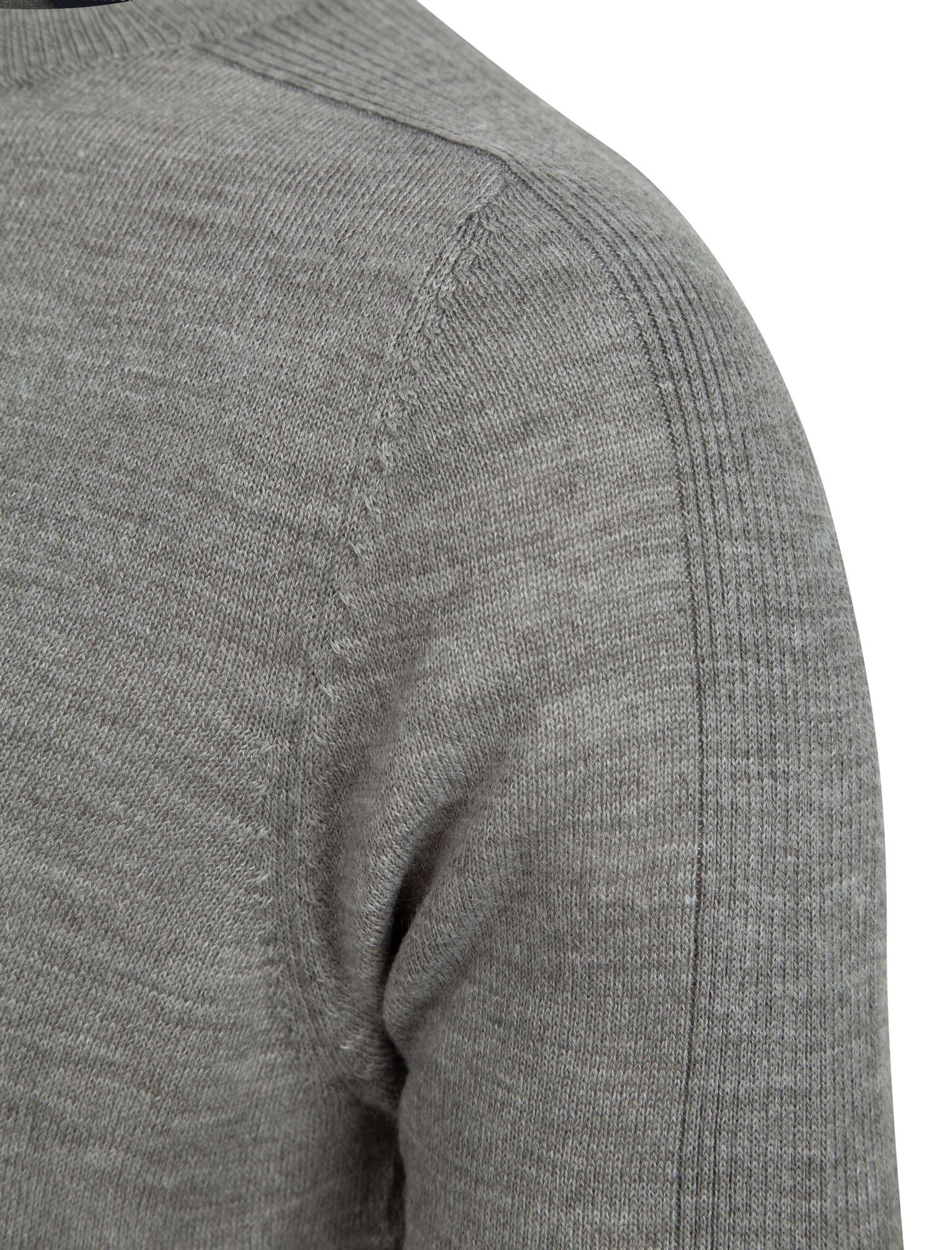 Kensington-Eastside-Men-039-s-Knitted-Crew-or-V-Neck-Jumper-Sweater-Top-Pullover thumbnail 69
