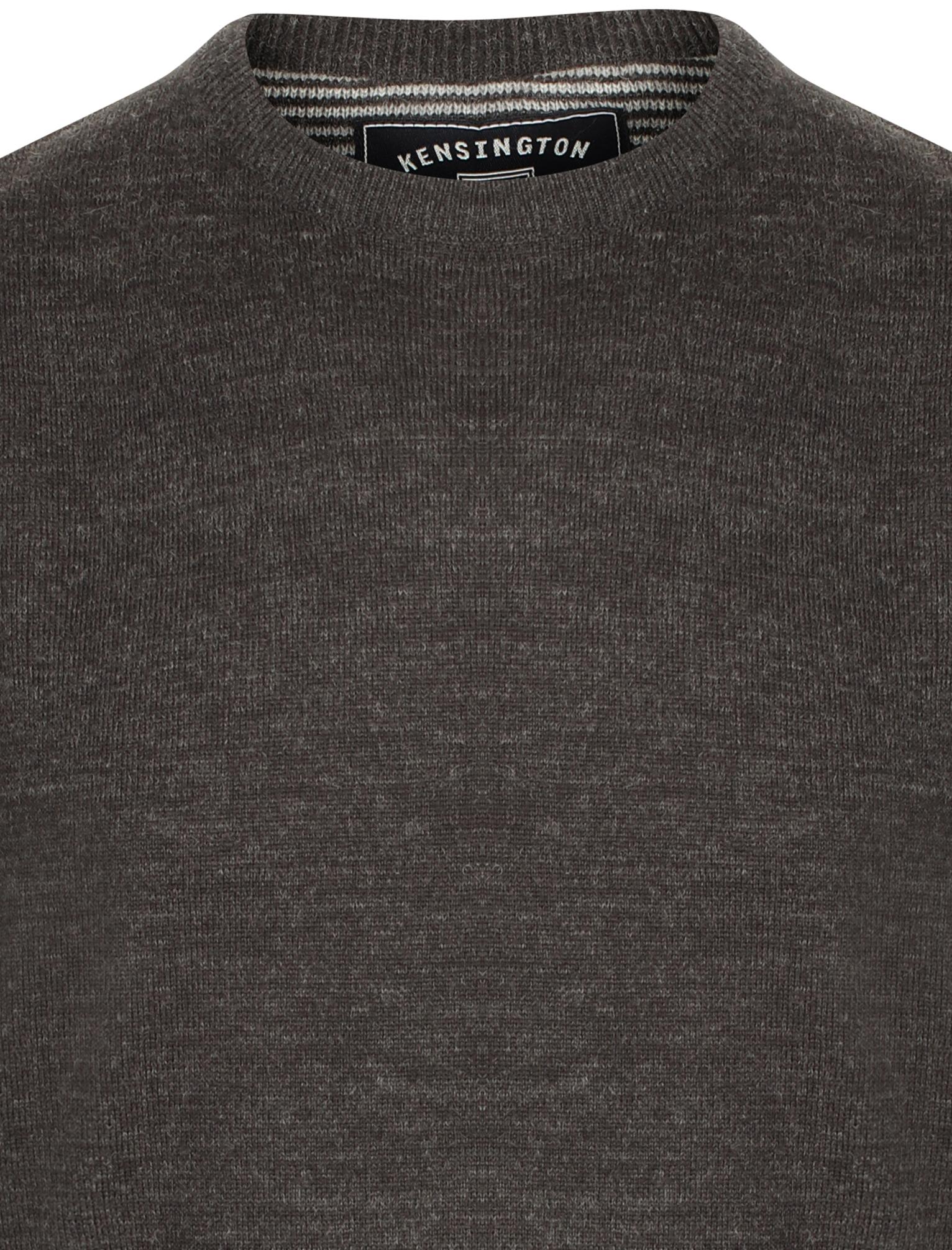 Kensington-Eastside-Men-039-s-Knitted-Crew-or-V-Neck-Jumper-Sweater-Top-Pullover thumbnail 8