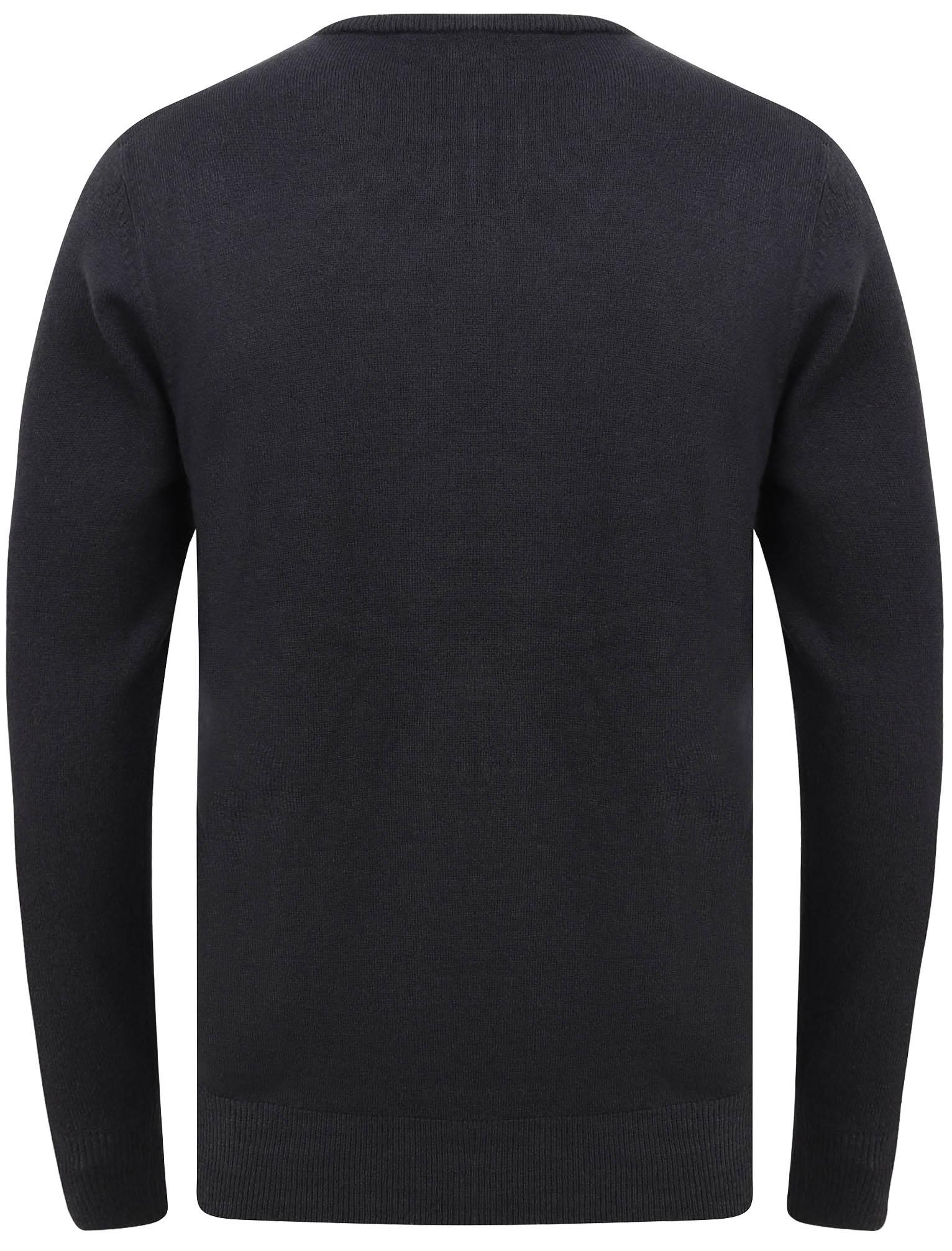 Kensington-Eastside-Men-039-s-Knitted-Crew-or-V-Neck-Jumper-Sweater-Top-Pullover thumbnail 77
