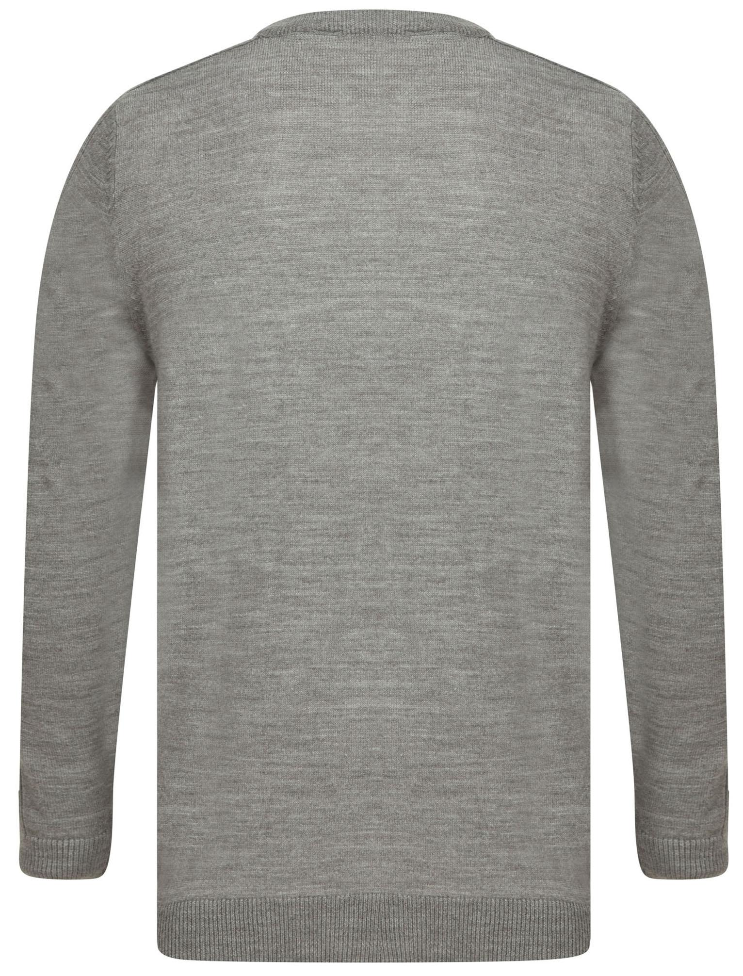 Kensington-Eastside-Men-039-s-Knitted-Crew-or-V-Neck-Jumper-Sweater-Top-Pullover thumbnail 68
