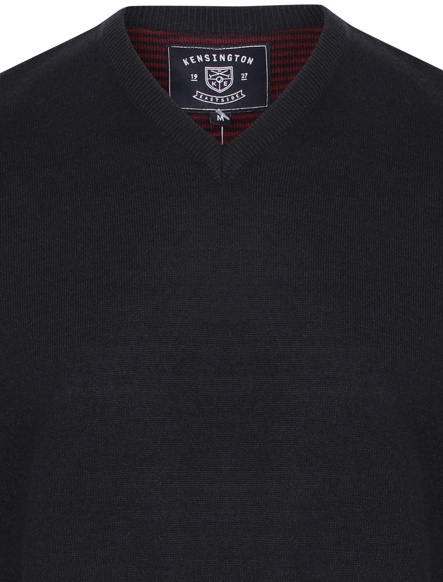 Kensington-Eastside-Men-039-s-Wool-Blend-Knitted-Crew-or-V-Neck-Jumper-Sweater-Top thumbnail 28