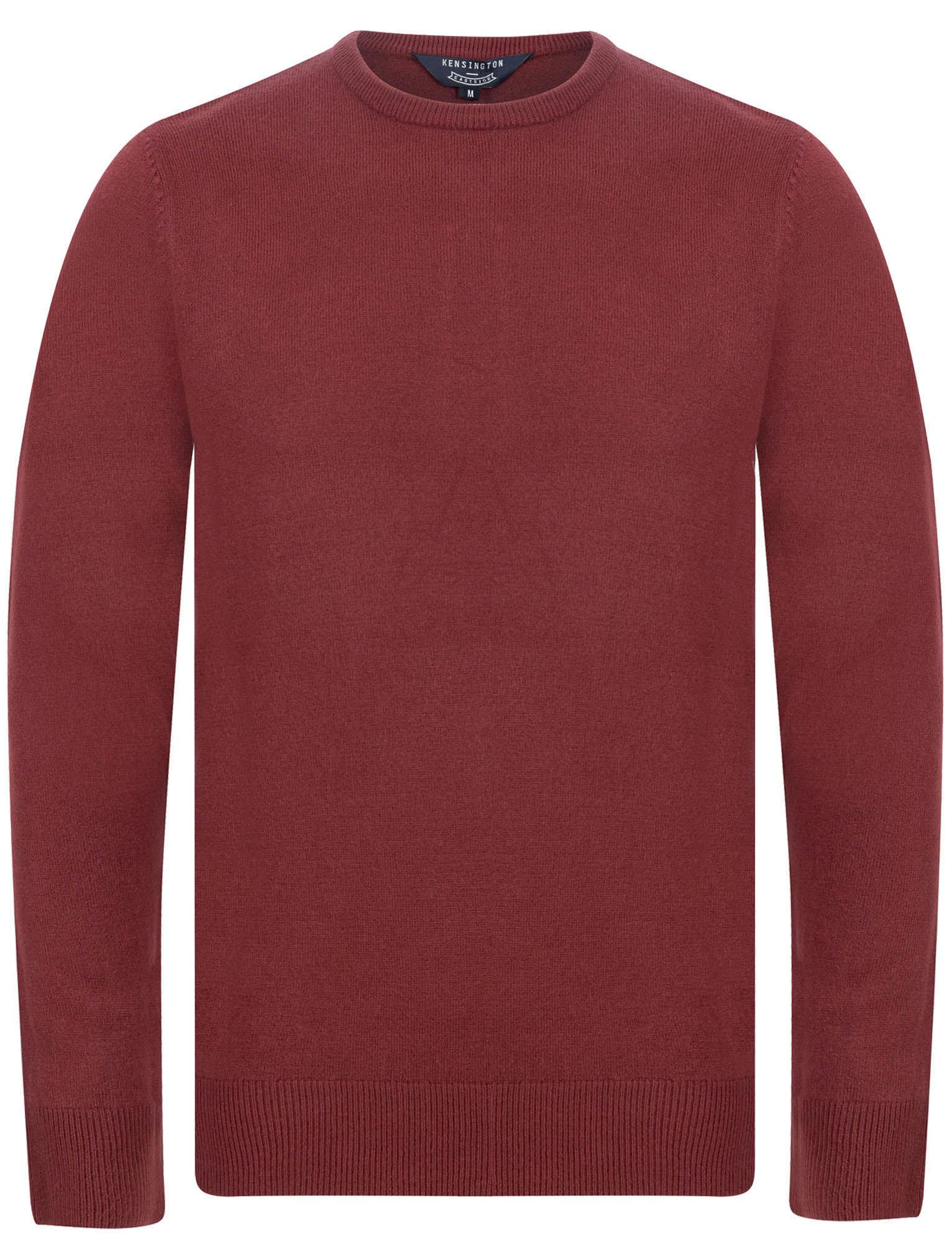 Kensington-Eastside-Men-039-s-Knitted-Crew-or-V-Neck-Jumper-Sweater-Top-Pullover thumbnail 85