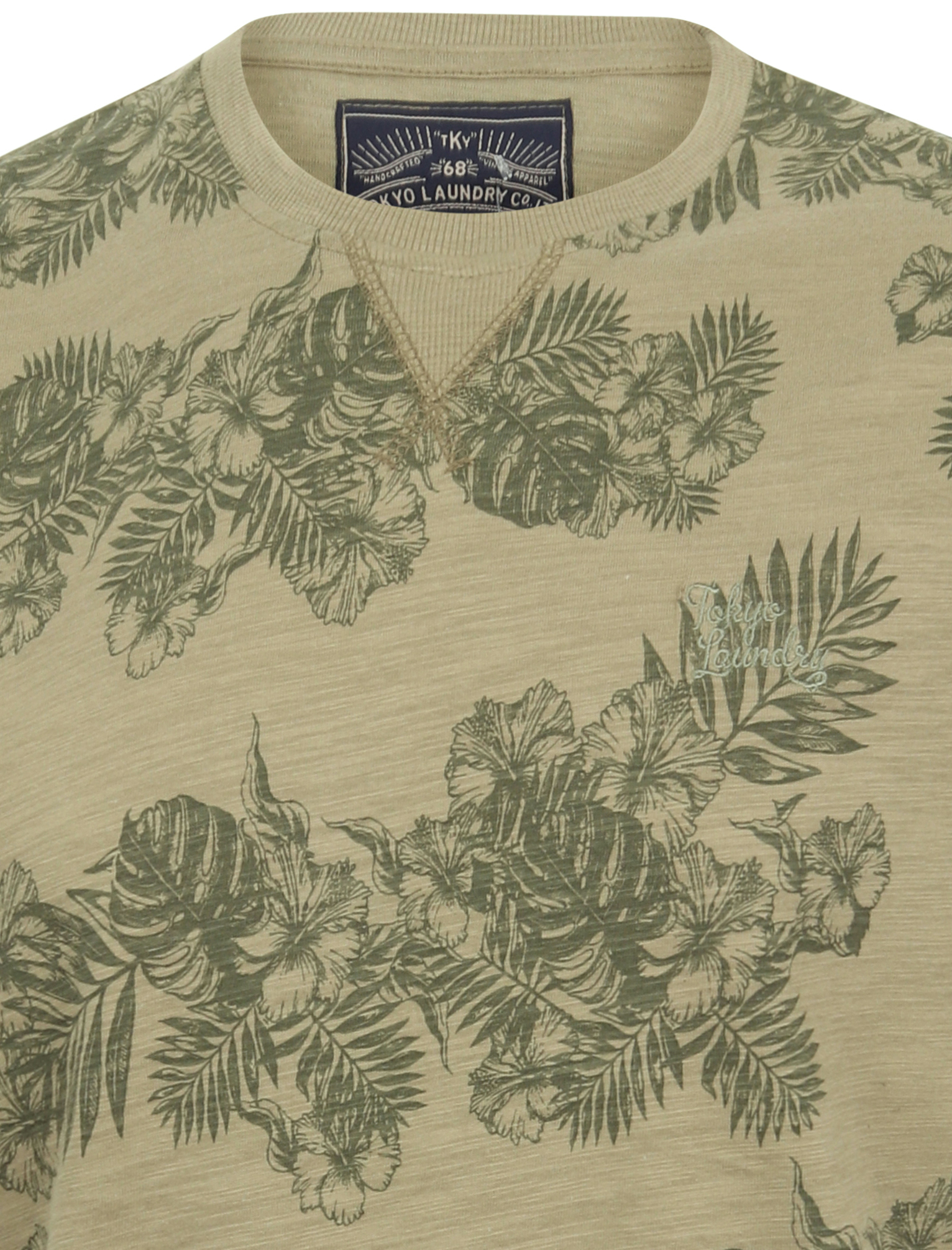 thumbnail 9 - Tokyo-Laundry-Tropical-Print-Crew-Neck-T-Shirt-Hawaiian-Floral-Summer-Holiday