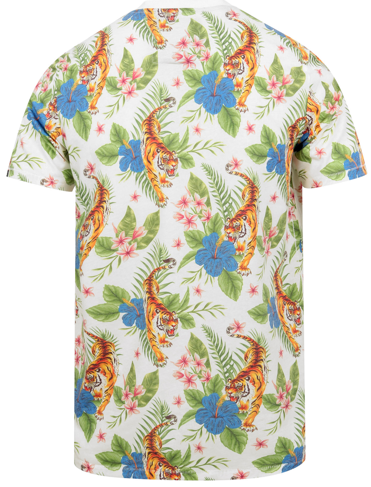 Tokyo-Laundry-Tropical-Print-Crew-Neck-T-Shirt-Hawaiian-Floral-Summer-Holiday thumbnail 25