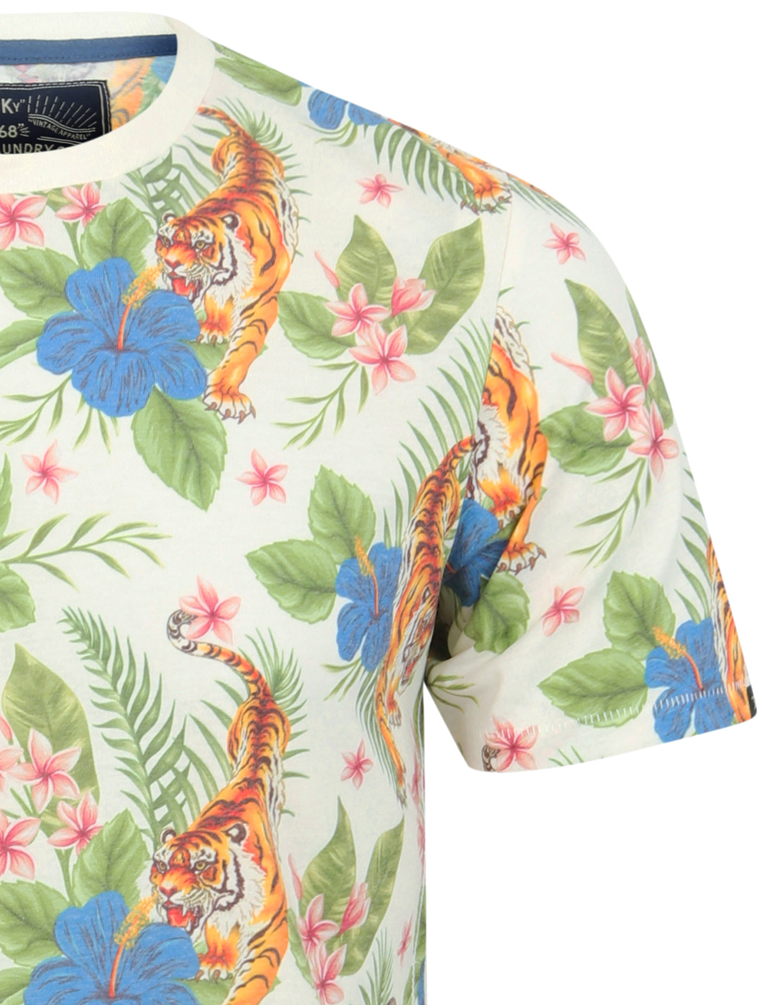 thumbnail 21 - Tokyo-Laundry-Tropical-Print-Crew-Neck-T-Shirt-Hawaiian-Floral-Summer-Holiday