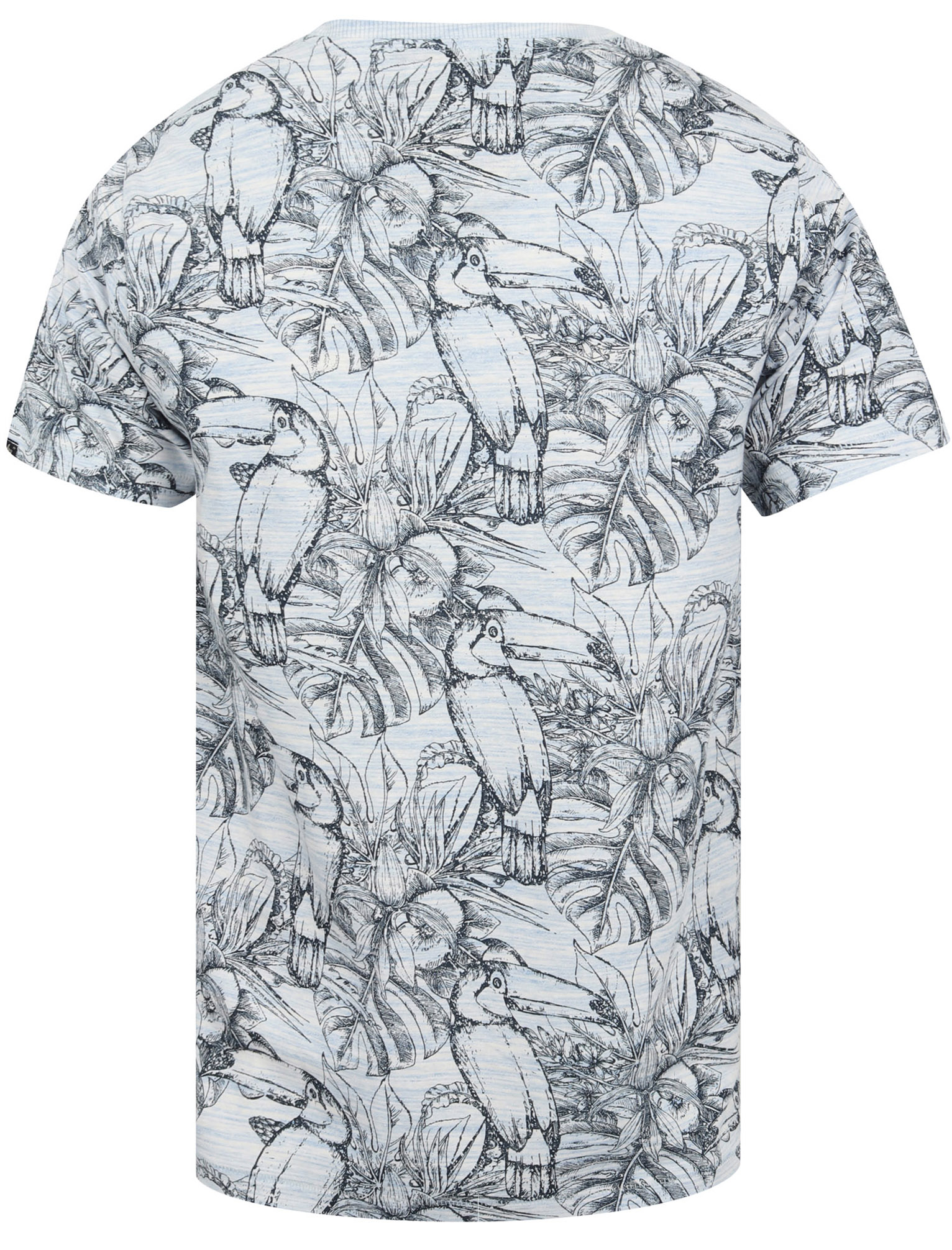 thumbnail 3 - Tokyo-Laundry-Tropical-Print-Crew-Neck-T-Shirt-Hawaiian-Floral-Summer-Holiday