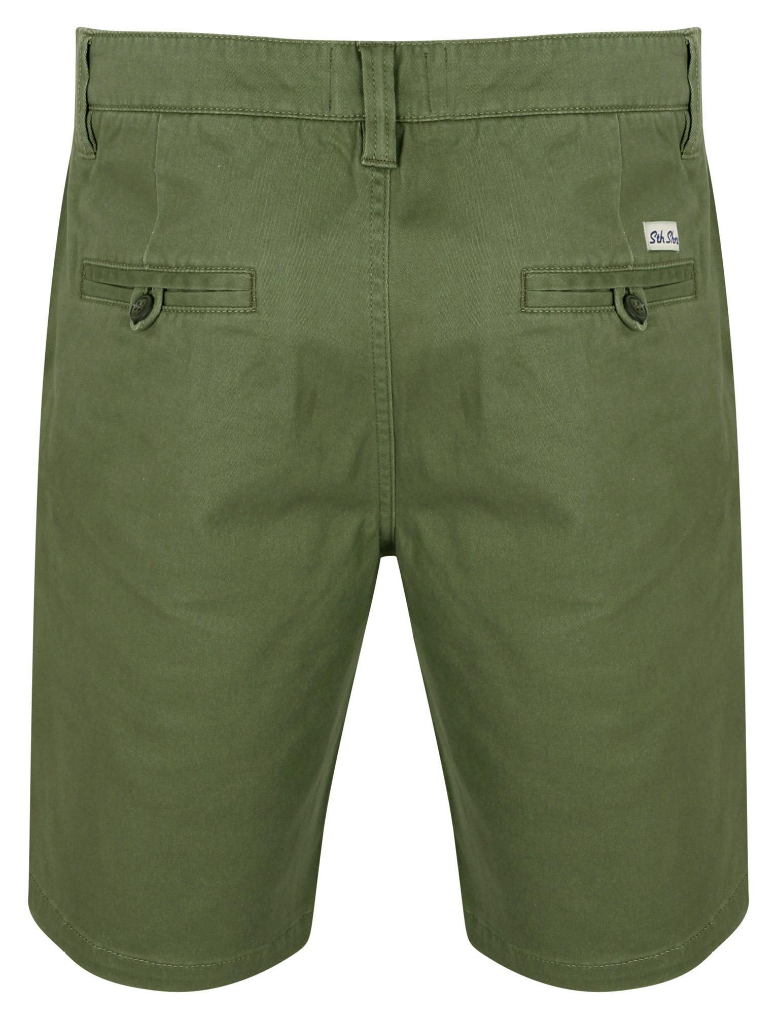 South-Shore-uomo-Scotch-Tinta-Unita-Cotone-Twill-Casual-Jeans-Corti-Chino-Taglia-S-XXL miniatura 17