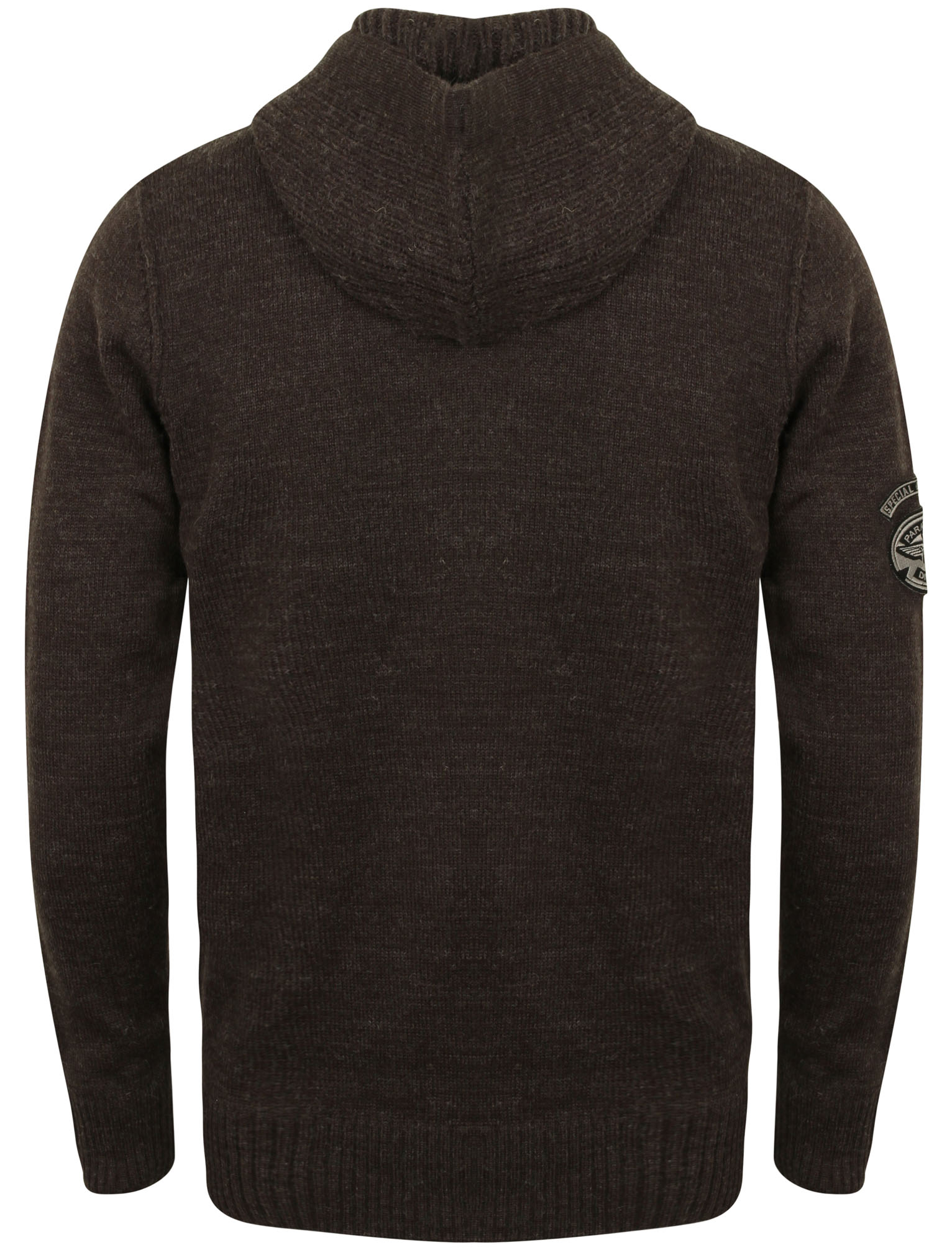 Mens Dissident Cruise Wool Mix Zip Up Hooded Sweater Knitted ...
