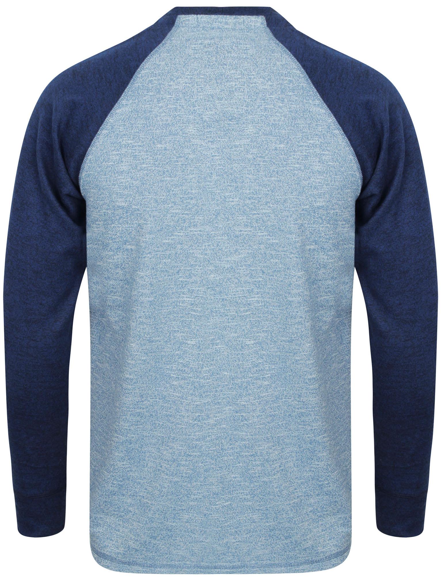 New-Tokyo-Laundry-Mens-Crew-Neck-Cotton-Blend-Long-Contrast-Sleeve-Top-Size-S-XL thumbnail 5