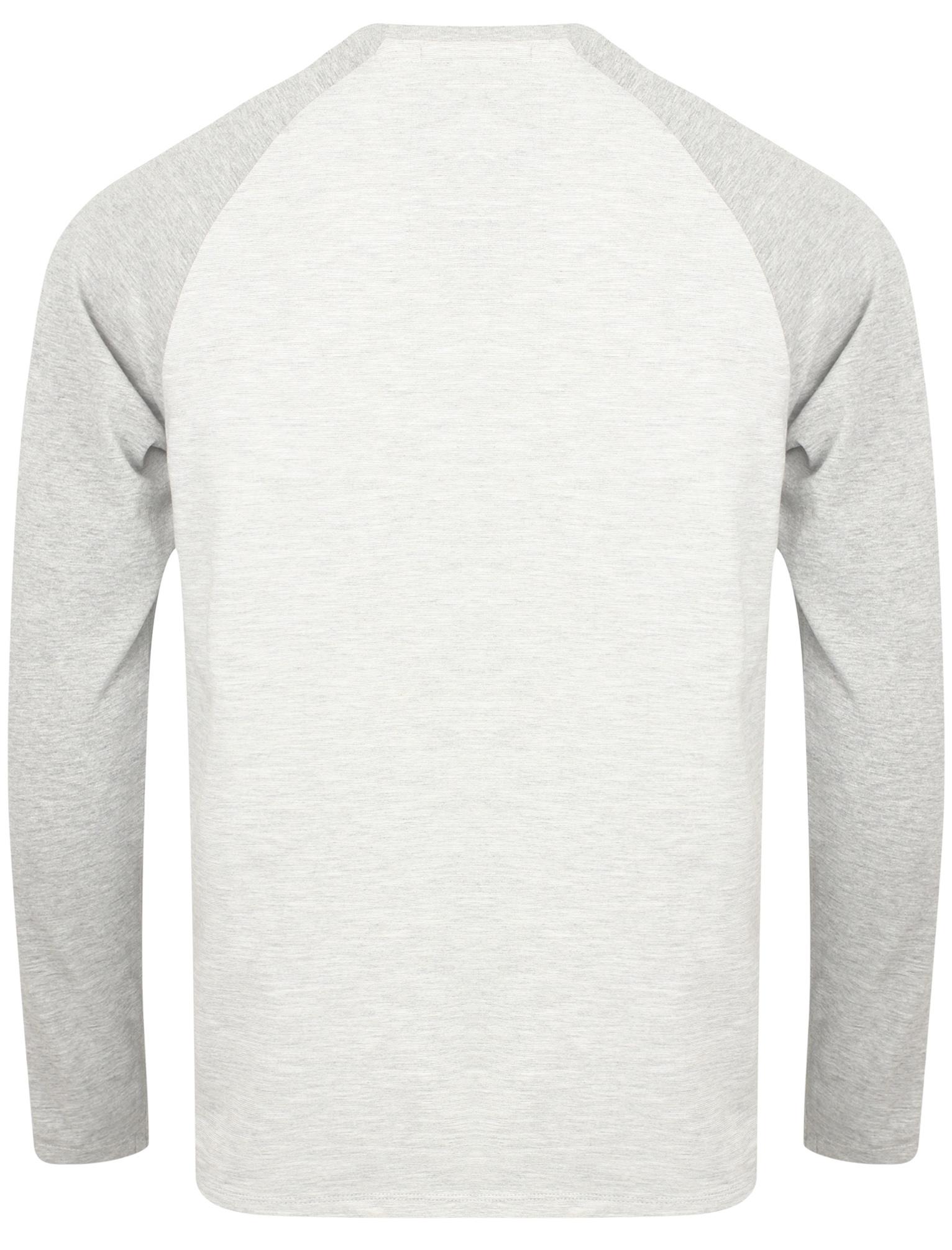 New-Tokyo-Laundry-Mens-Crew-Neck-Cotton-Blend-Long-Contrast-Sleeve-Top-Size-S-XL thumbnail 3