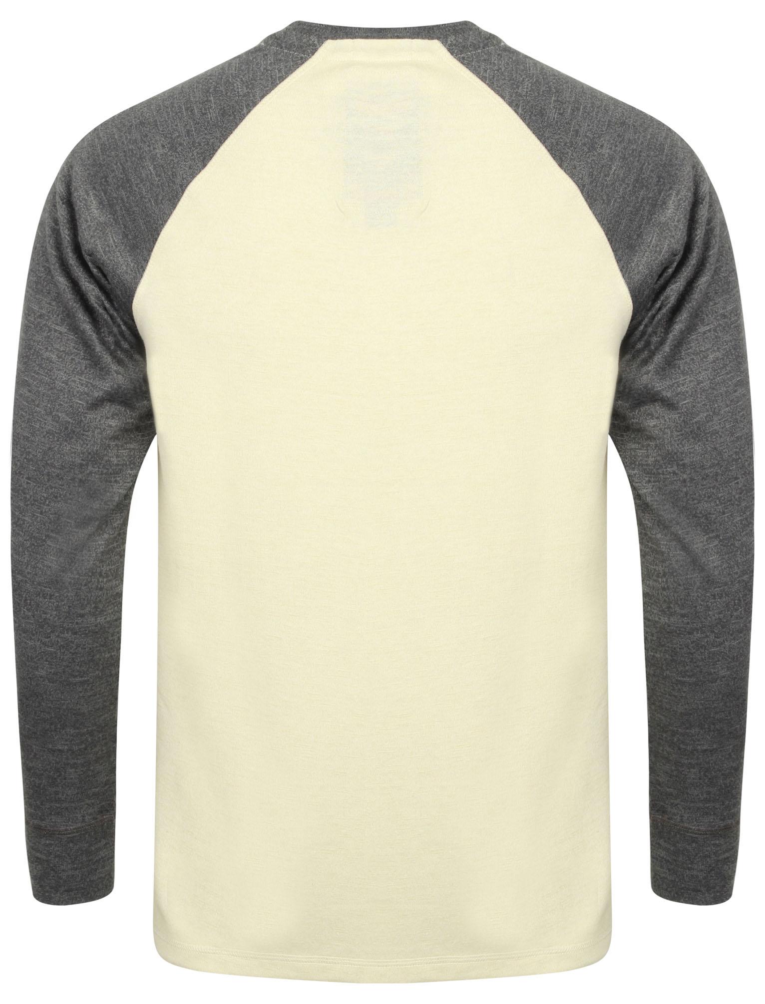 New-Tokyo-Laundry-Mens-Crew-Neck-Cotton-Blend-Long-Contrast-Sleeve-Top-Size-S-XL thumbnail 13