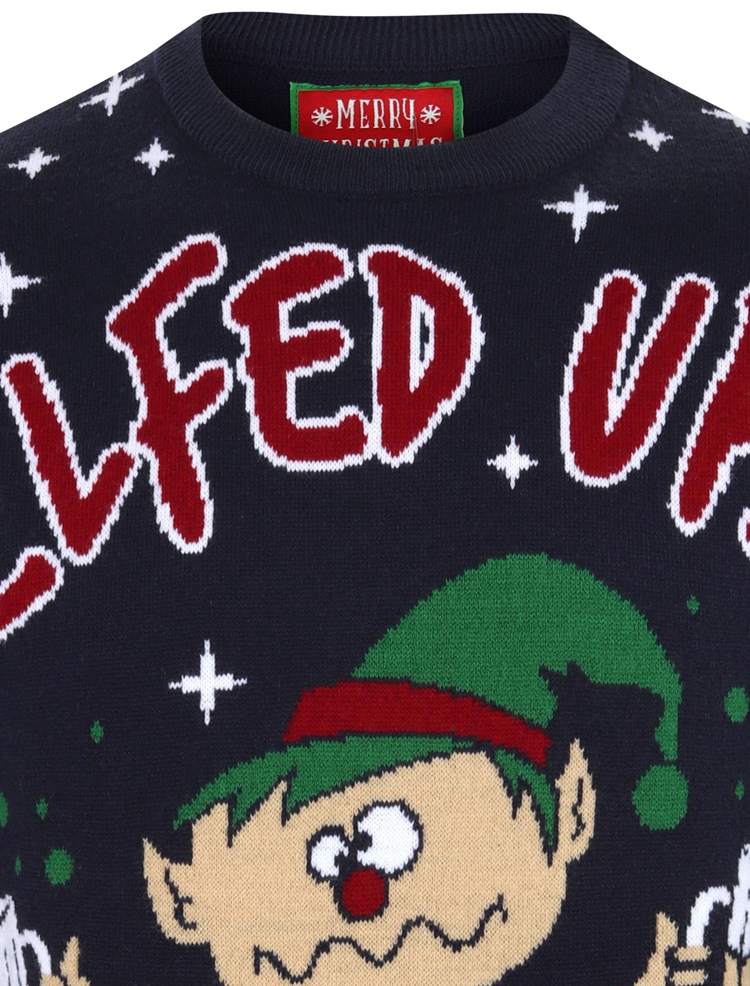 Feliz-Navidad-Para-Hombre-Novedad-Navidad-Sueter-Santa-Elfo-Reno-divertido-Cerveza miniatura 55