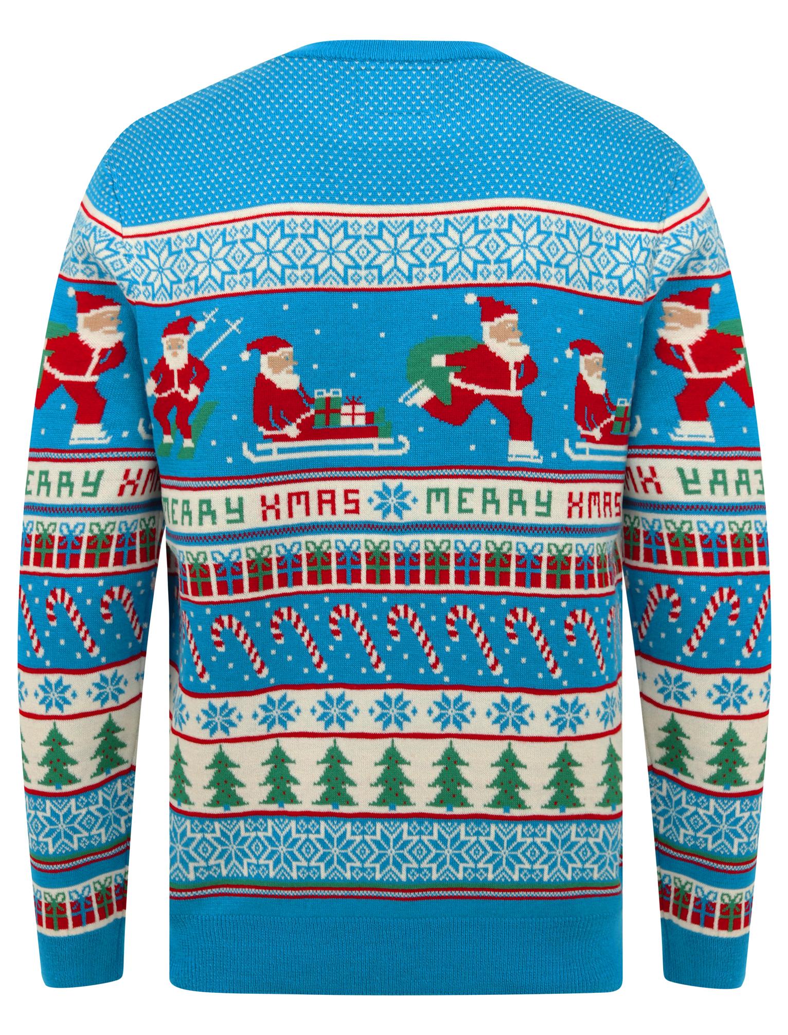 Feliz-Navidad-Para-Hombre-Novedad-Navidad-Sueter-Santa-Elfo-Reno-divertido-Cerveza miniatura 117