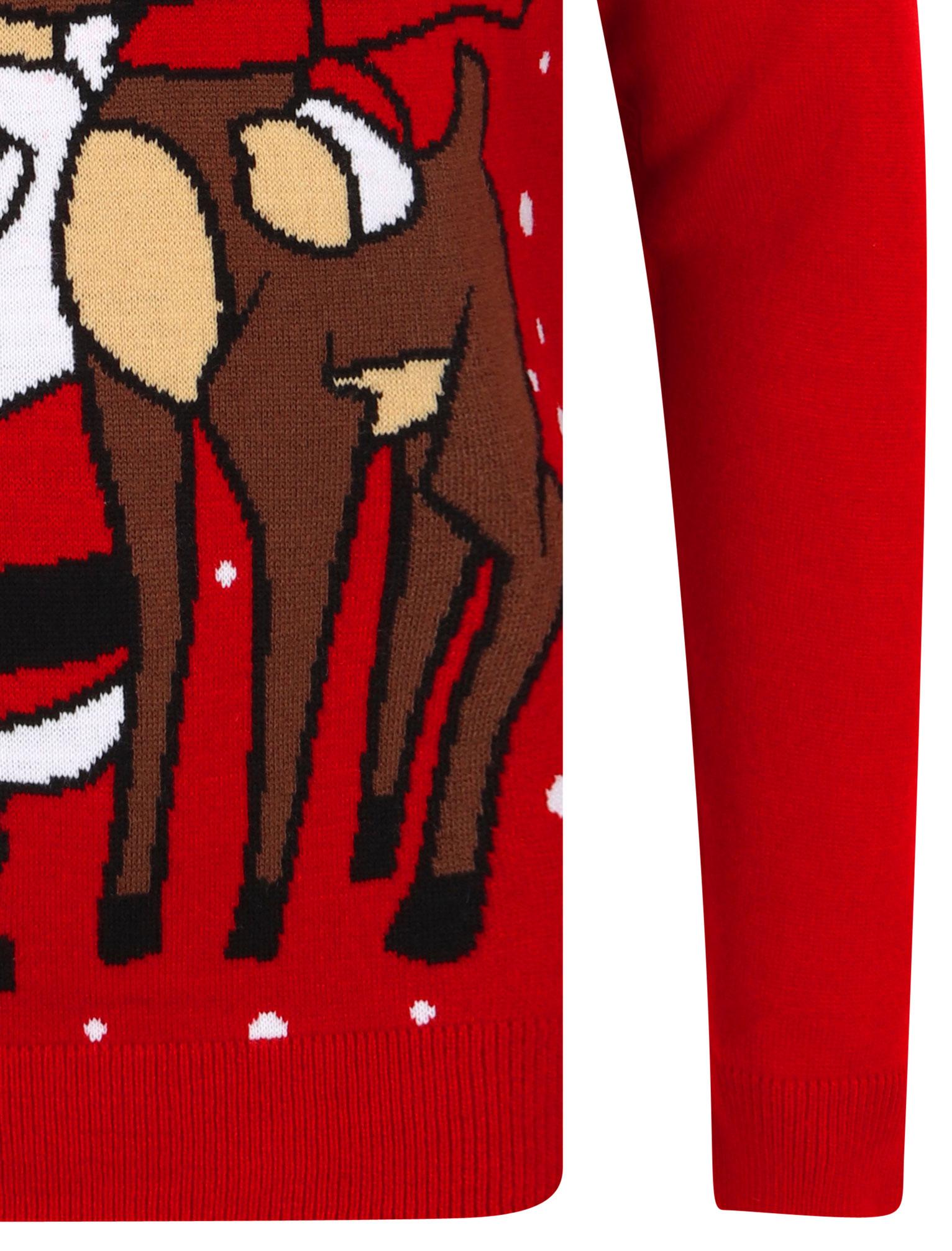 Feliz-Navidad-Para-Hombre-Novedad-Navidad-Sueter-Santa-Elfo-Reno-divertido-Cerveza miniatura 111