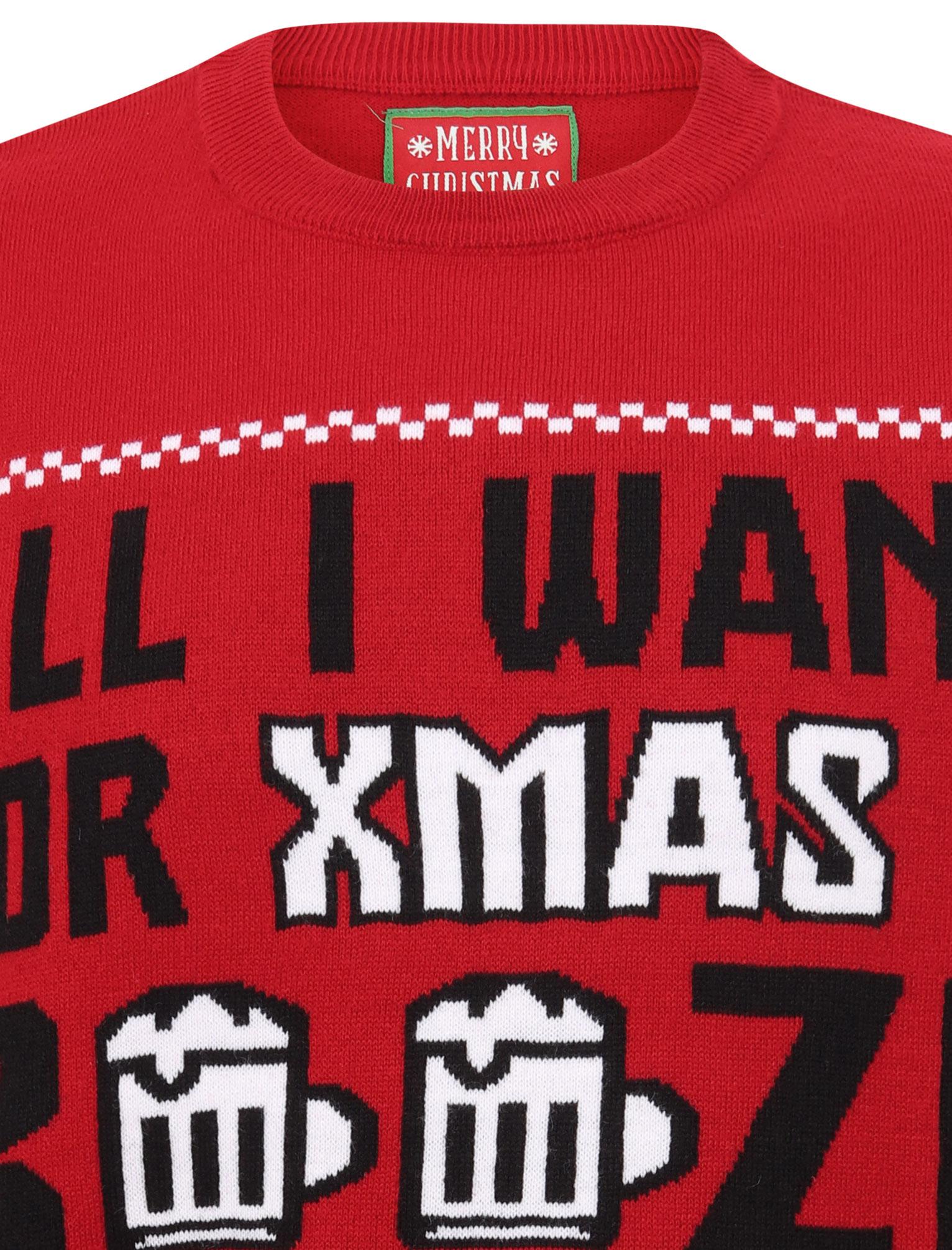 Feliz-Navidad-Para-Hombre-Novedad-Navidad-Sueter-Santa-Elfo-Reno-divertido-Cerveza miniatura 22