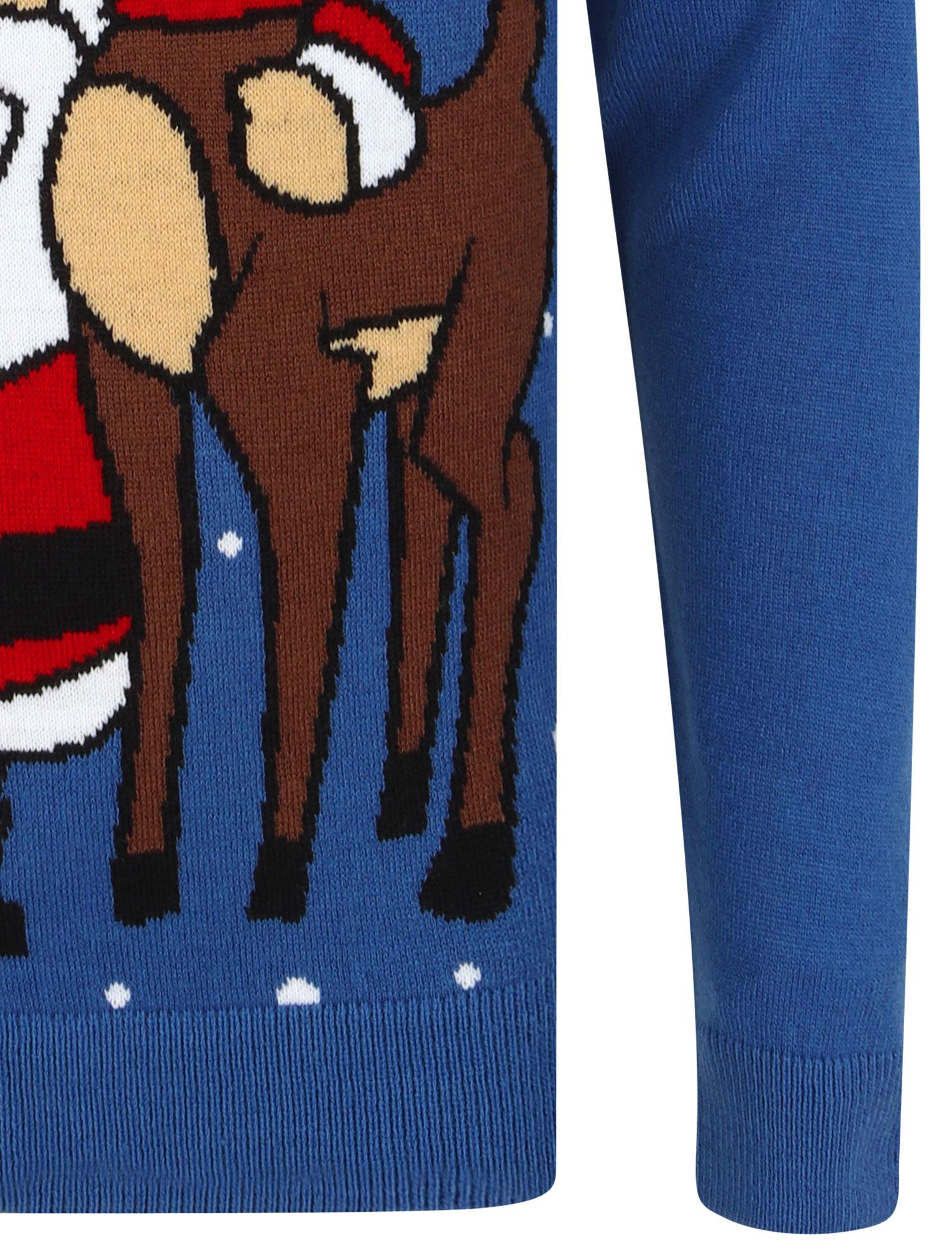 Feliz-Navidad-Para-Hombre-Novedad-Navidad-Sueter-Santa-Elfo-Reno-divertido-Cerveza miniatura 115