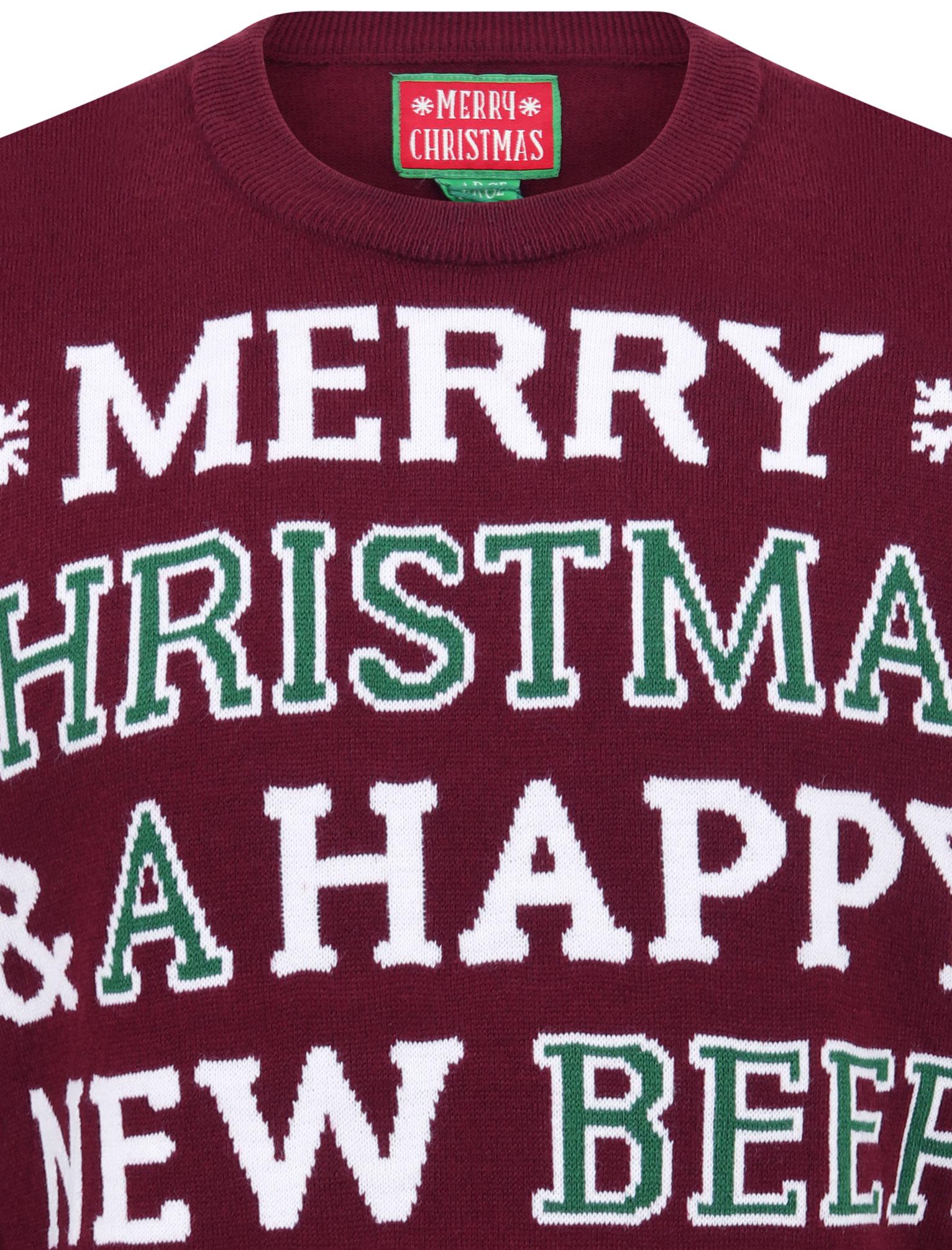 Feliz-Navidad-Para-Hombre-Novedad-Navidad-Sueter-Santa-Elfo-Reno-divertido-Cerveza miniatura 12