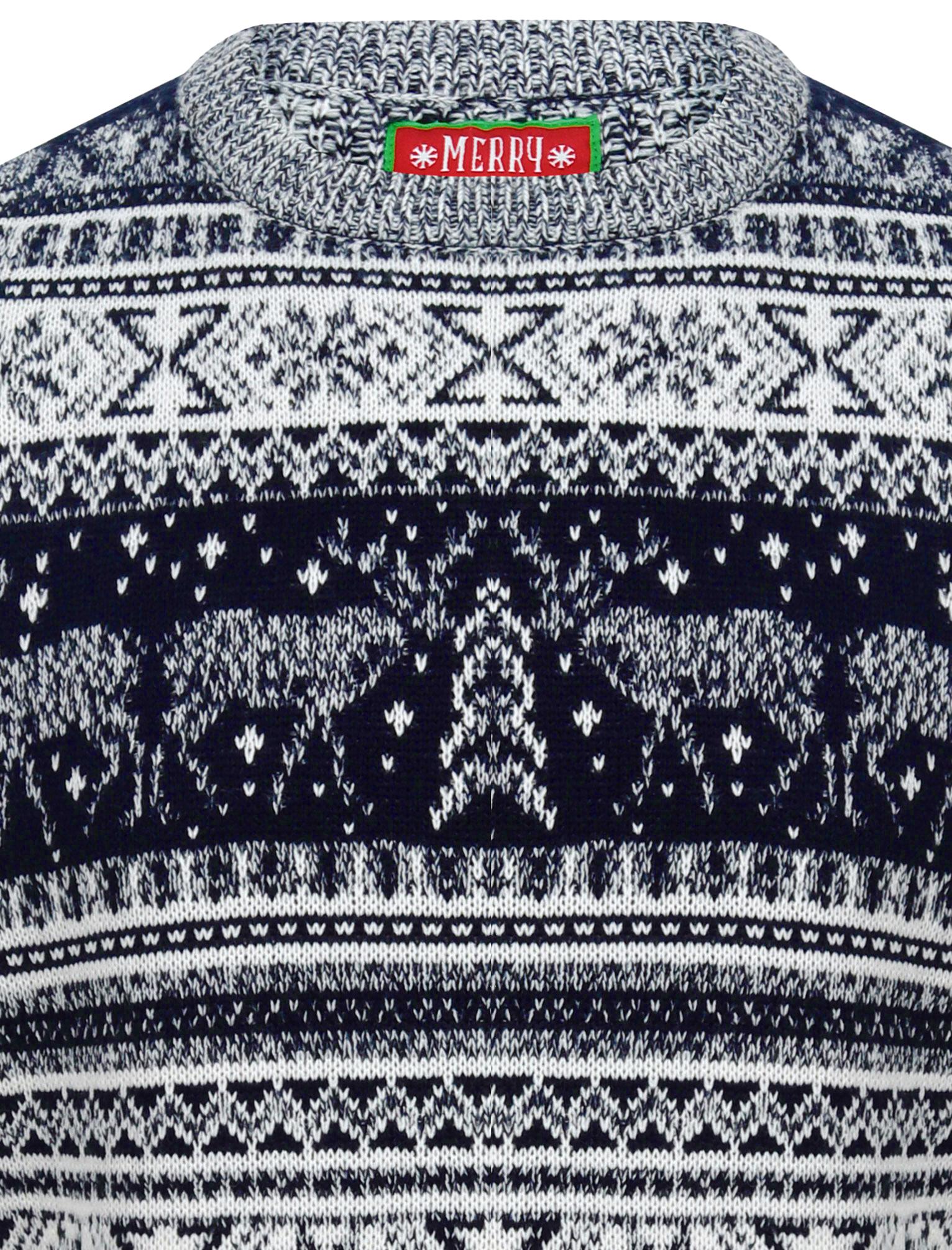 Feliz-Navidad-Para-Hombre-Novedad-Navidad-Sueter-Santa-Elfo-Reno-divertido-Cerveza miniatura 123