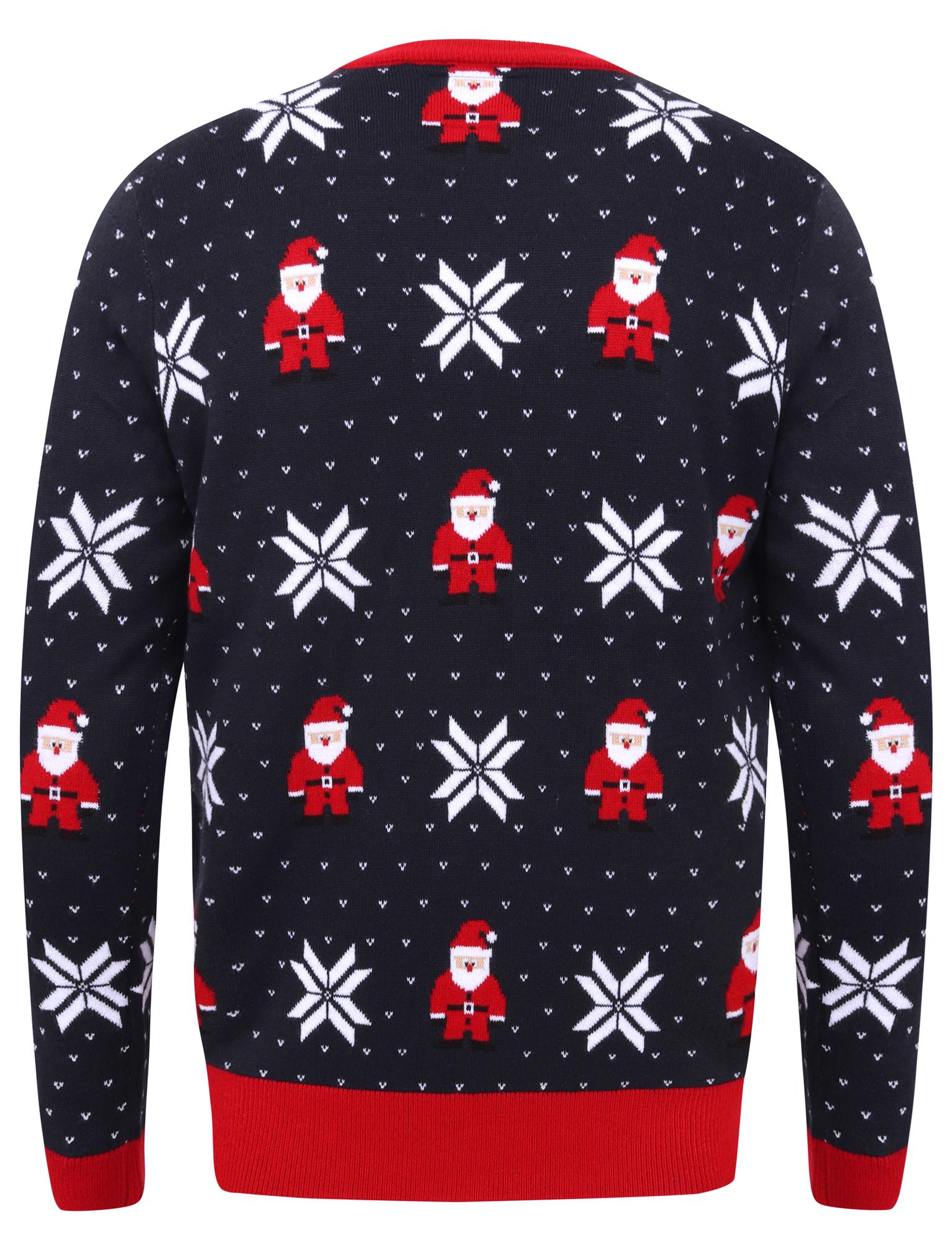 Feliz-Navidad-Para-Hombre-Novedad-Navidad-Sueter-Santa-Elfo-Reno-divertido-Cerveza miniatura 70