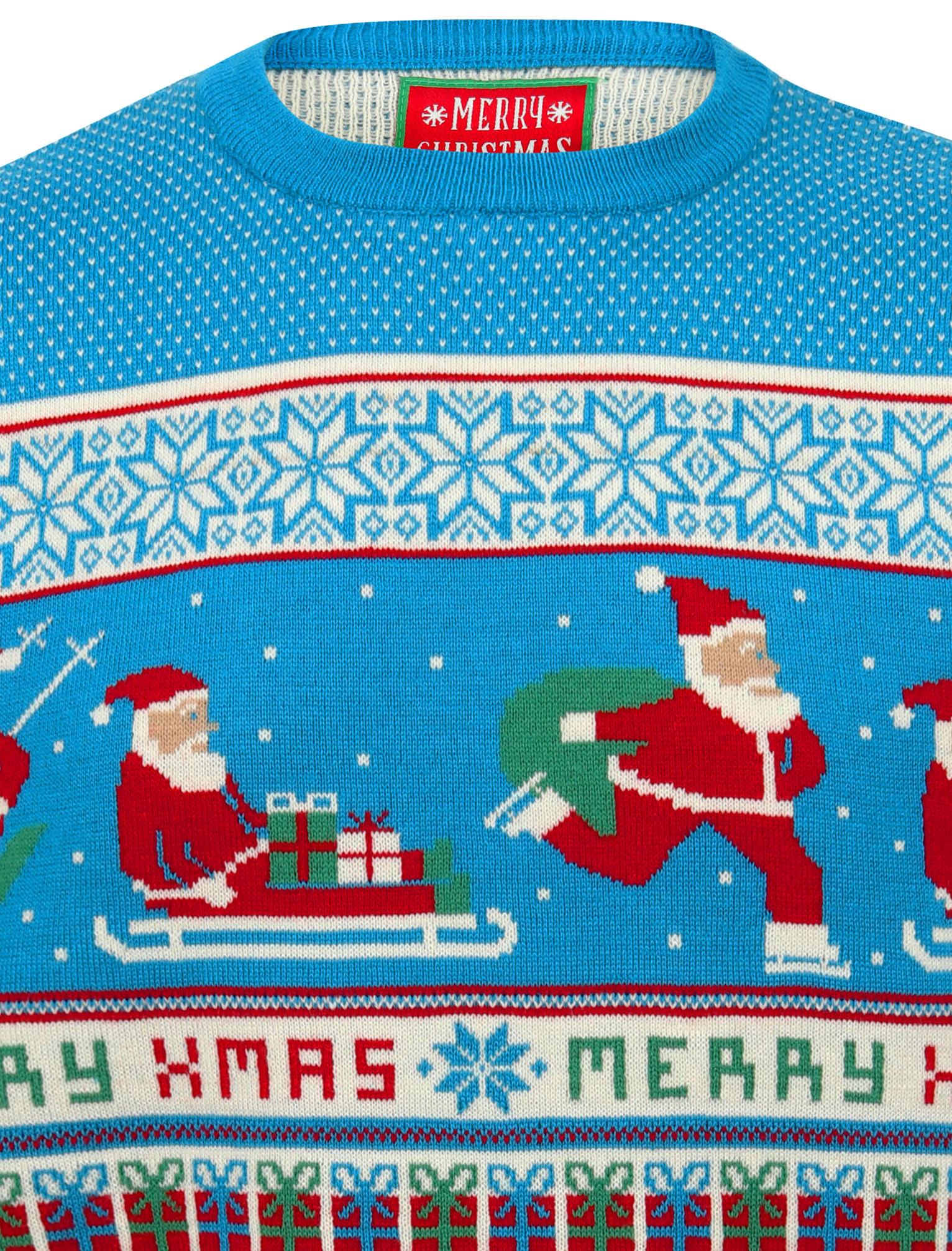 Feliz-Navidad-Para-Hombre-Novedad-Navidad-Sueter-Santa-Elfo-Reno-divertido-Cerveza miniatura 119