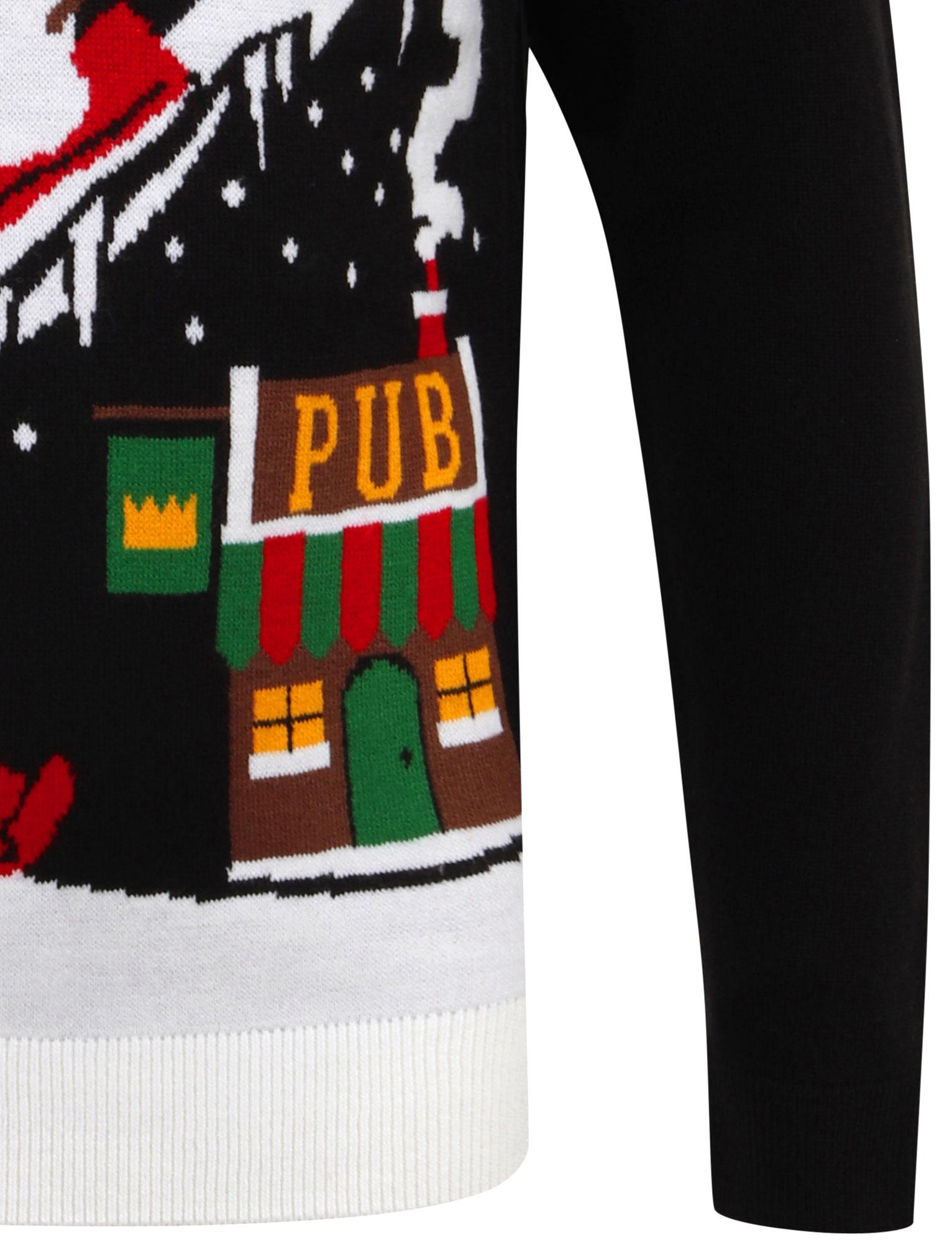 Feliz-Navidad-Para-Hombre-Novedad-Navidad-Sueter-Santa-Elfo-Reno-divertido-Cerveza miniatura 99