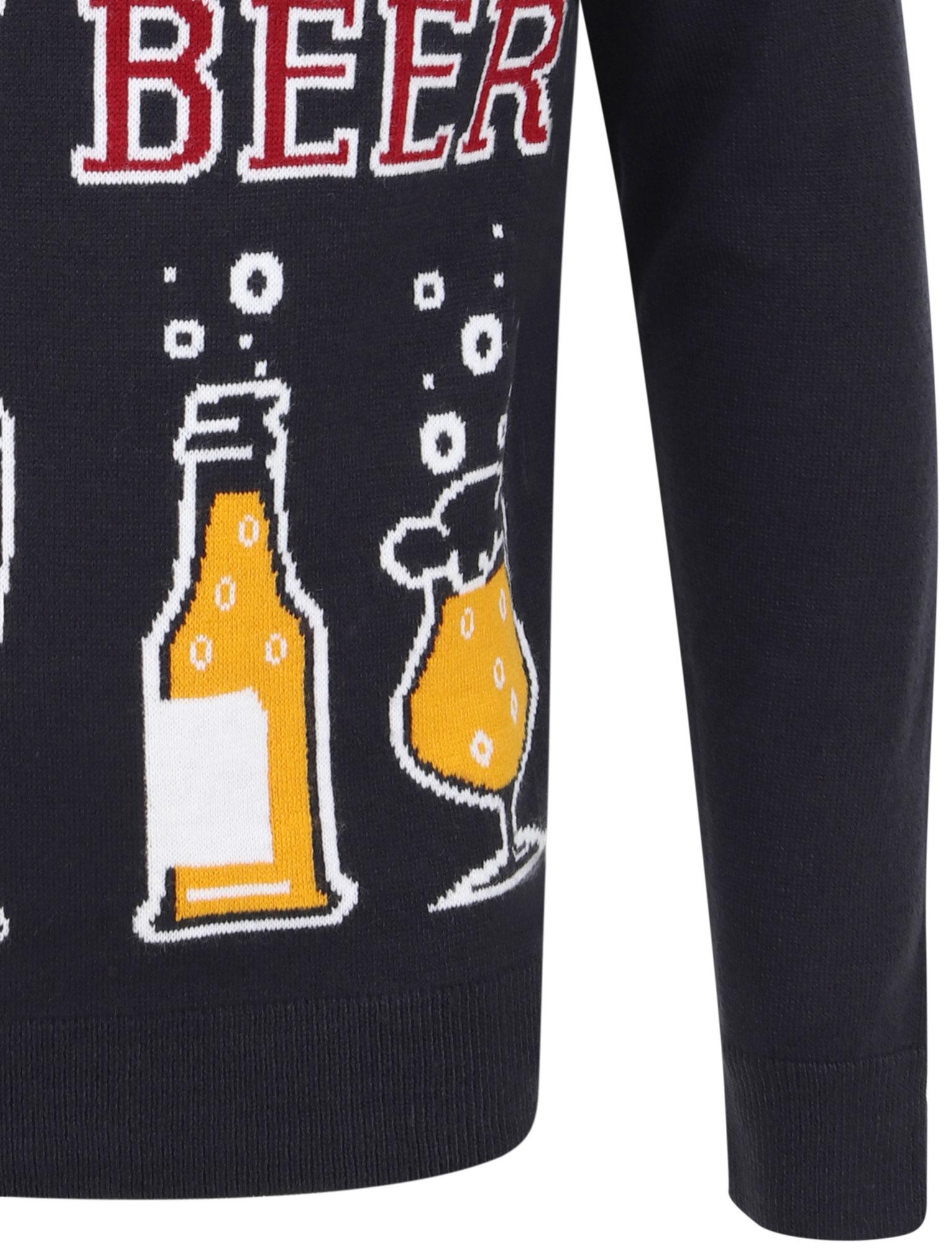 Feliz-Navidad-Para-Hombre-Novedad-Navidad-Sueter-Santa-Elfo-Reno-divertido-Cerveza miniatura 18