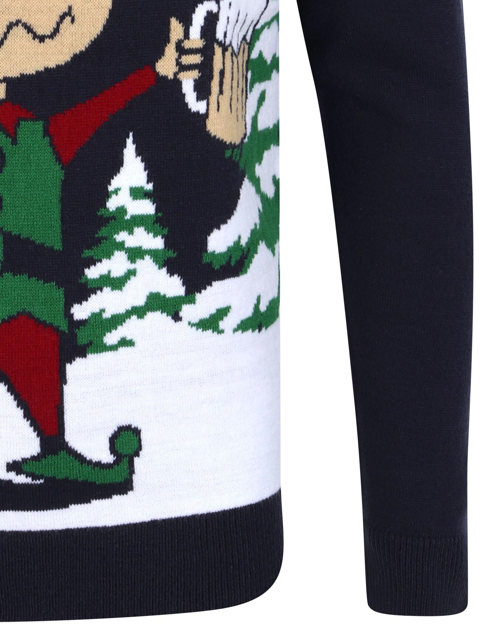 Feliz-Navidad-Para-Hombre-Novedad-Navidad-Sueter-Santa-Elfo-Reno-divertido-Cerveza miniatura 56