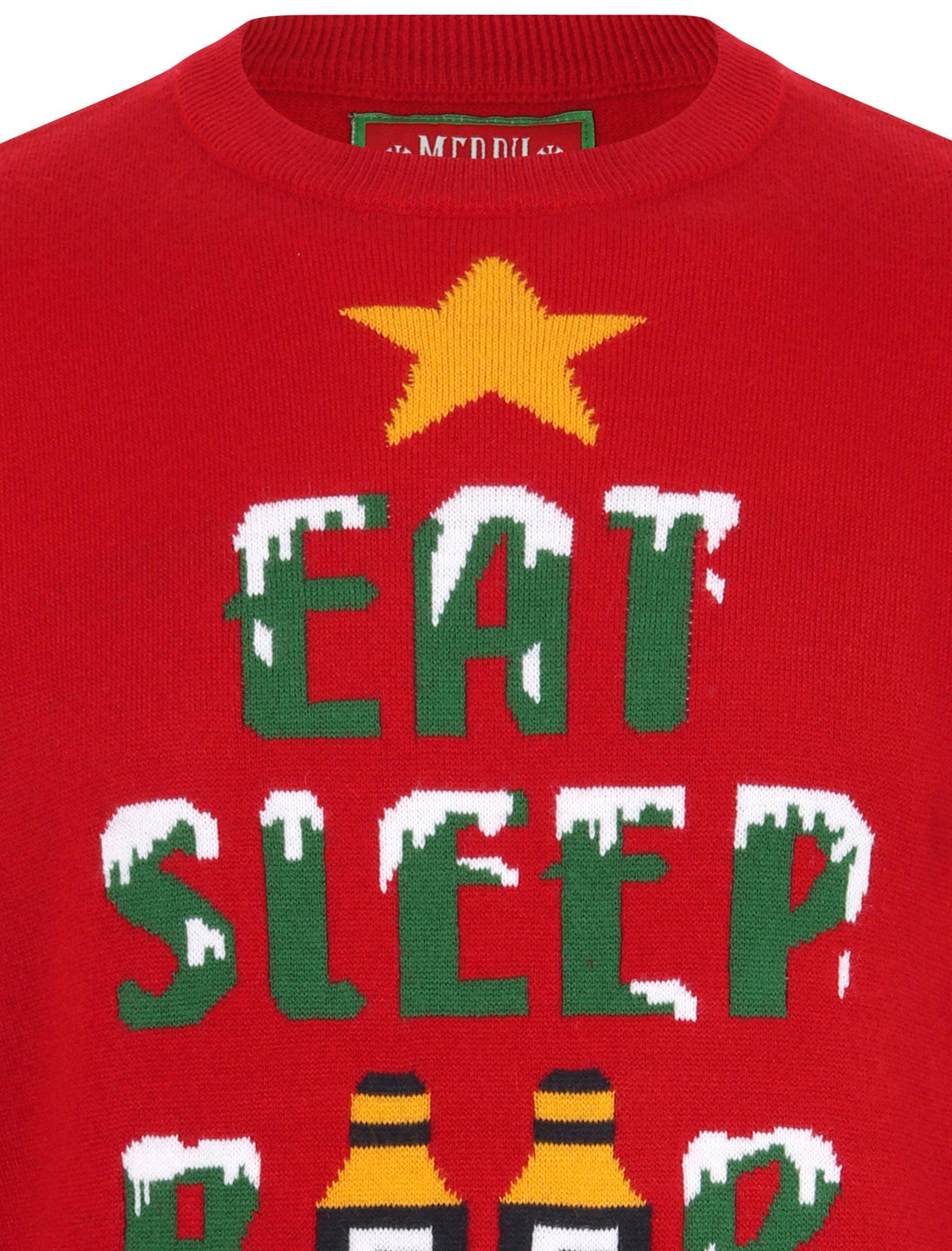 Feliz-Navidad-Para-Hombre-Novedad-Navidad-Sueter-Santa-Elfo-Reno-divertido-Cerveza miniatura 34