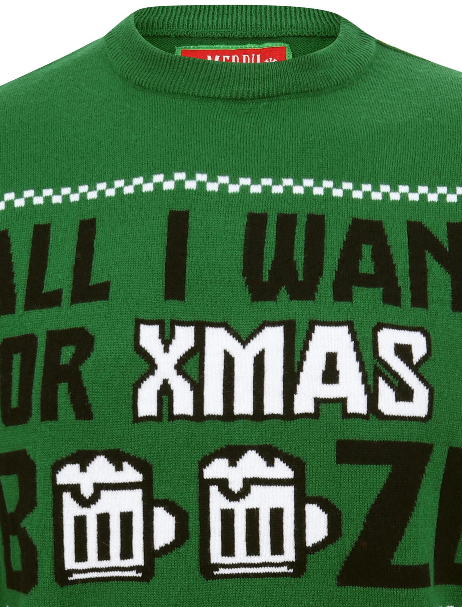 Feliz-Navidad-Para-Hombre-Novedad-Navidad-Sueter-Santa-Elfo-Reno-divertido-Cerveza miniatura 26
