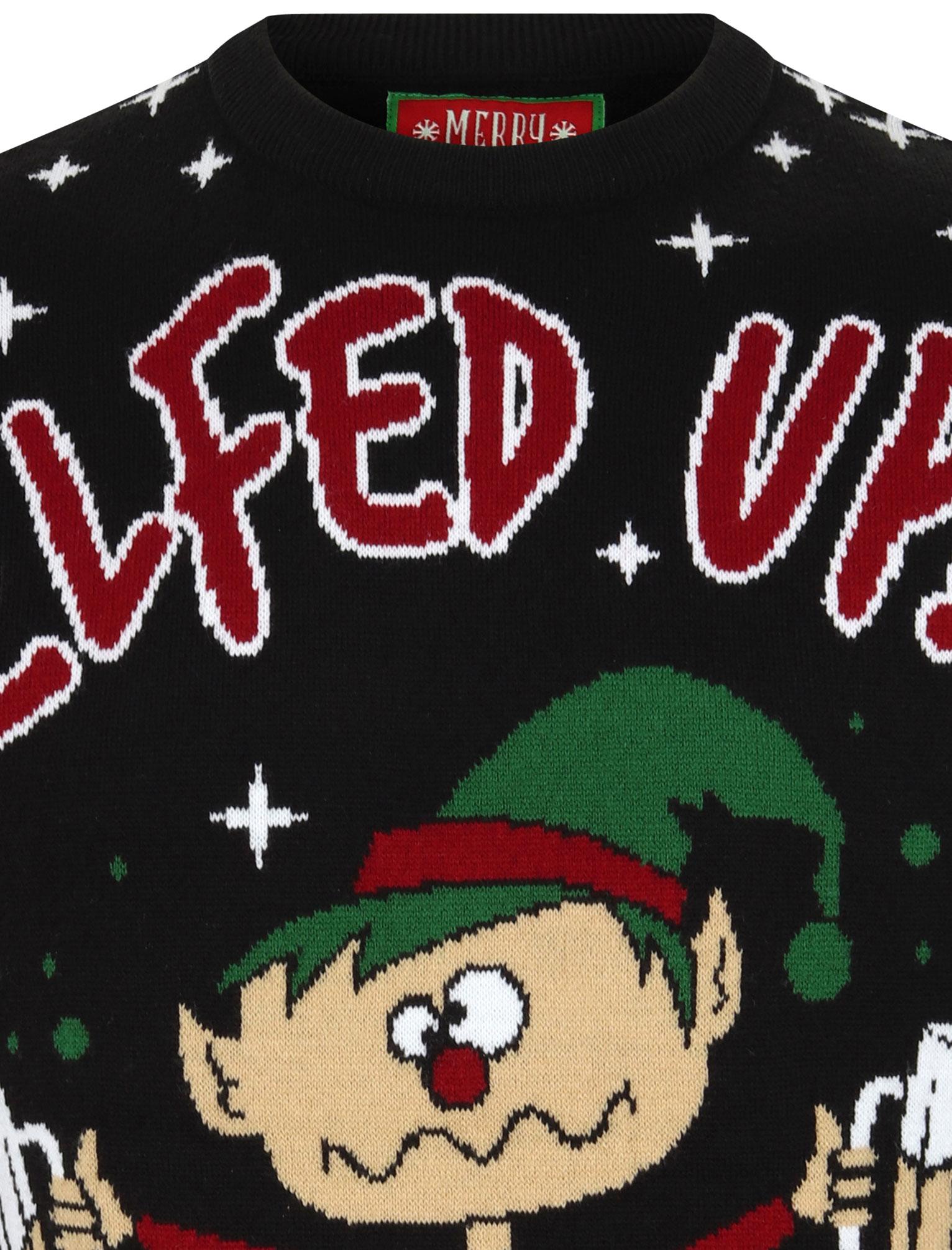Feliz-Navidad-Para-Hombre-Novedad-Navidad-Sueter-Santa-Elfo-Reno-divertido-Cerveza miniatura 59