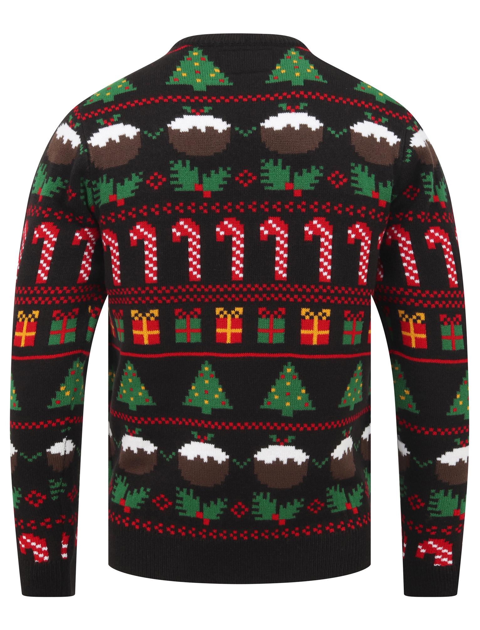 Feliz-Navidad-Para-Hombre-Novedad-Navidad-Sueter-Santa-Elfo-Reno-divertido-Cerveza miniatura 3