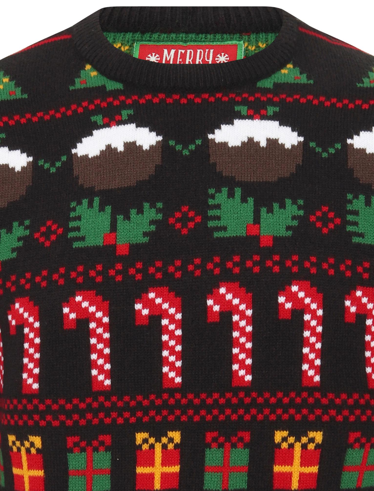 Feliz-Navidad-Para-Hombre-Novedad-Navidad-Sueter-Santa-Elfo-Reno-divertido-Cerveza miniatura 4