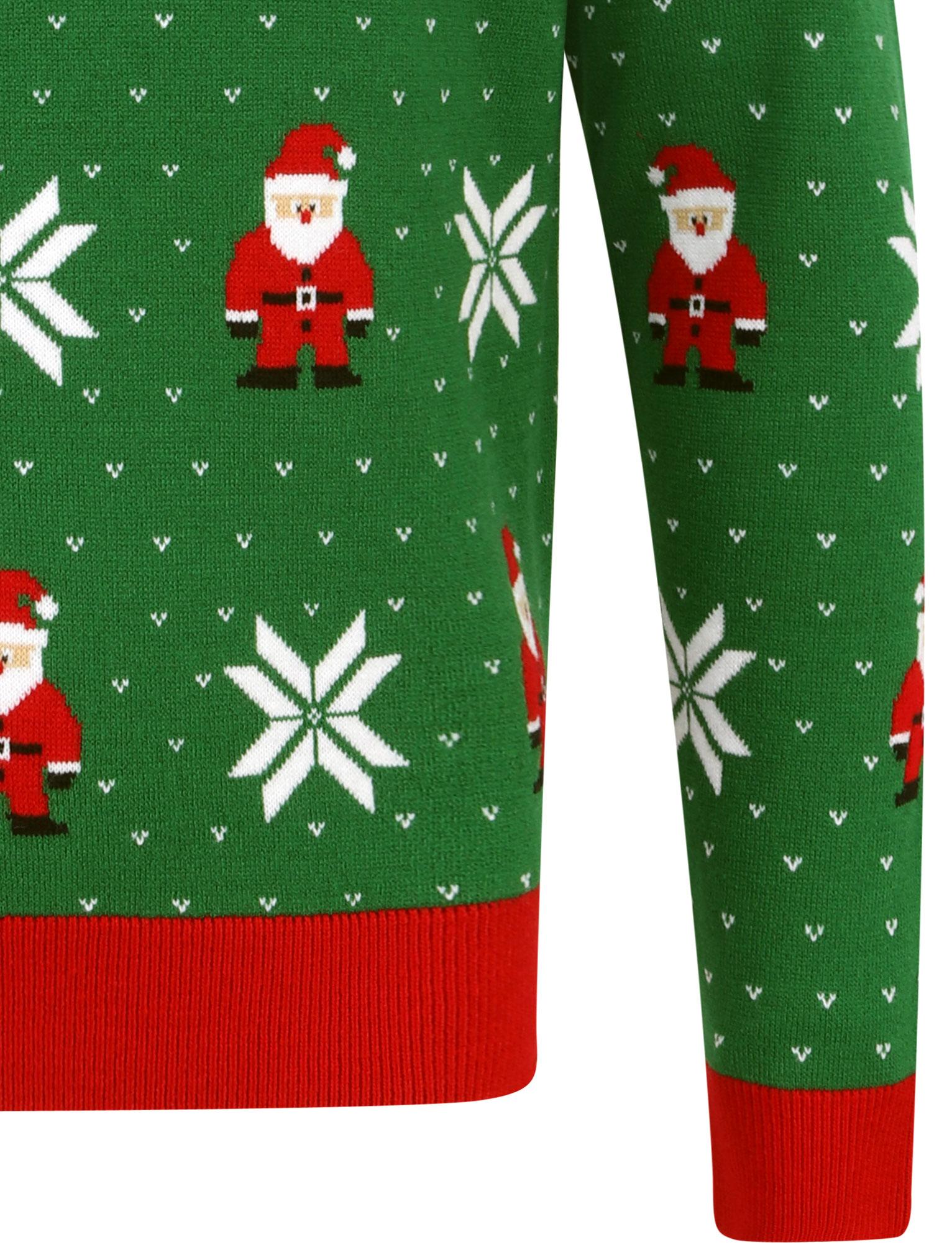 Feliz-Navidad-Para-Hombre-Novedad-Navidad-Sueter-Santa-Elfo-Reno-divertido-Cerveza miniatura 76