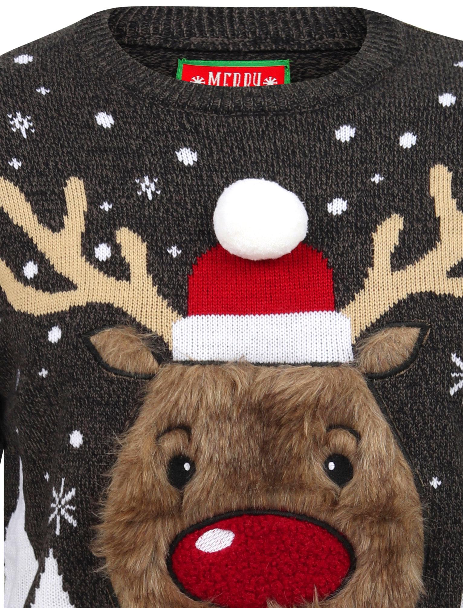 Feliz-Navidad-Para-Hombre-Novedad-Navidad-Sueter-Santa-Elfo-Reno-divertido-Cerveza miniatura 102