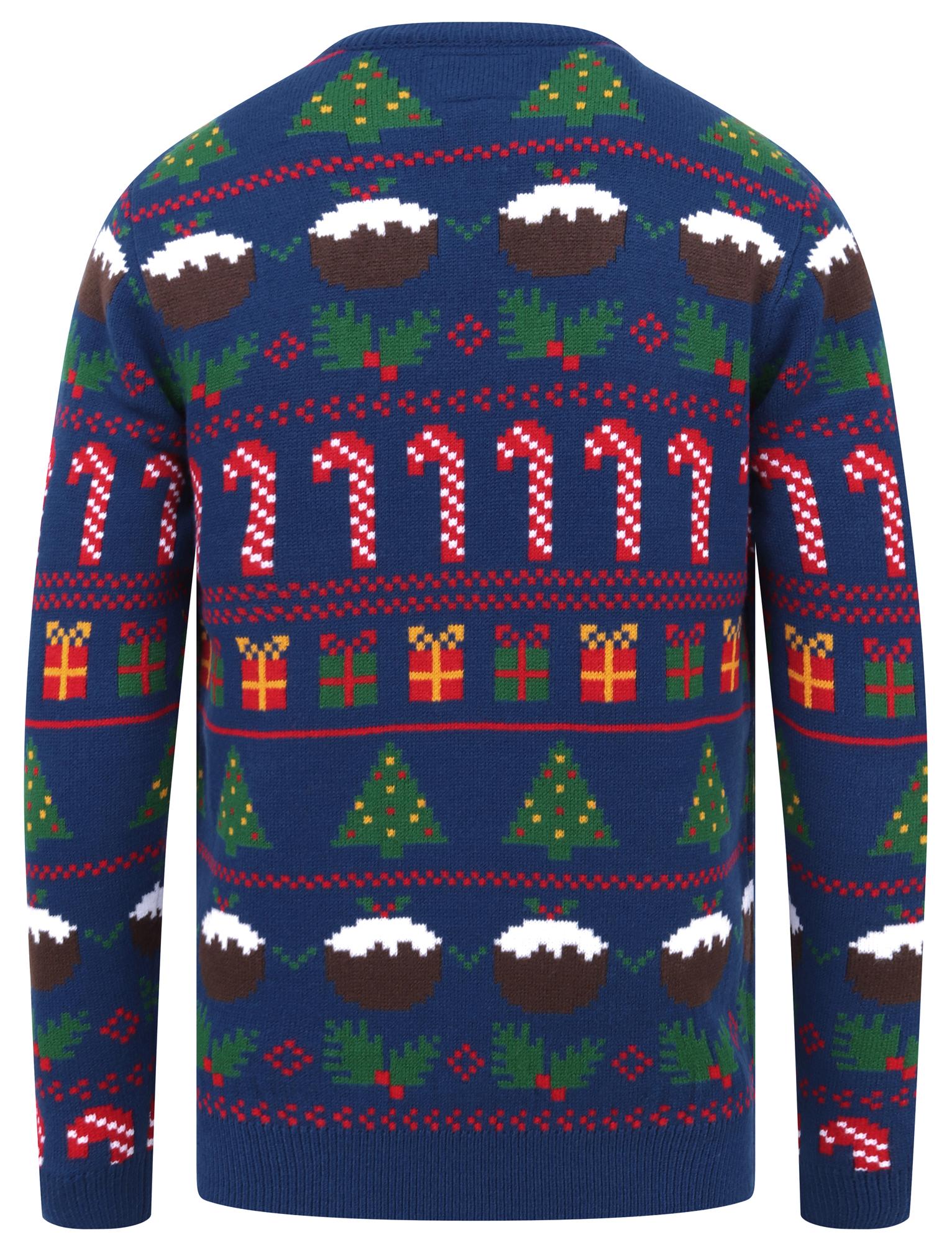 Feliz-Navidad-Para-Hombre-Novedad-Navidad-Sueter-Santa-Elfo-Reno-divertido-Cerveza miniatura 7