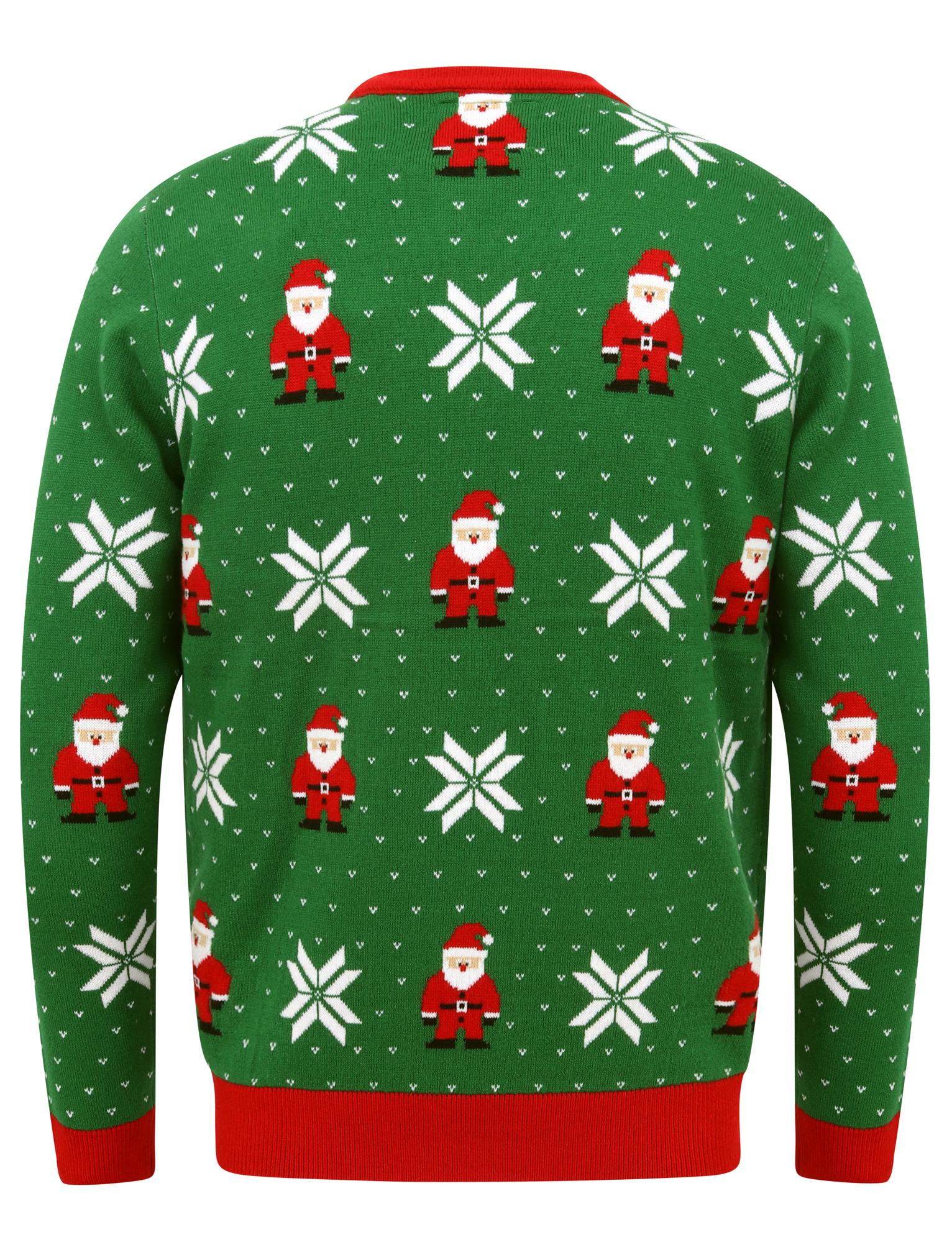 Feliz-Navidad-Para-Hombre-Novedad-Navidad-Sueter-Santa-Elfo-Reno-divertido-Cerveza miniatura 74