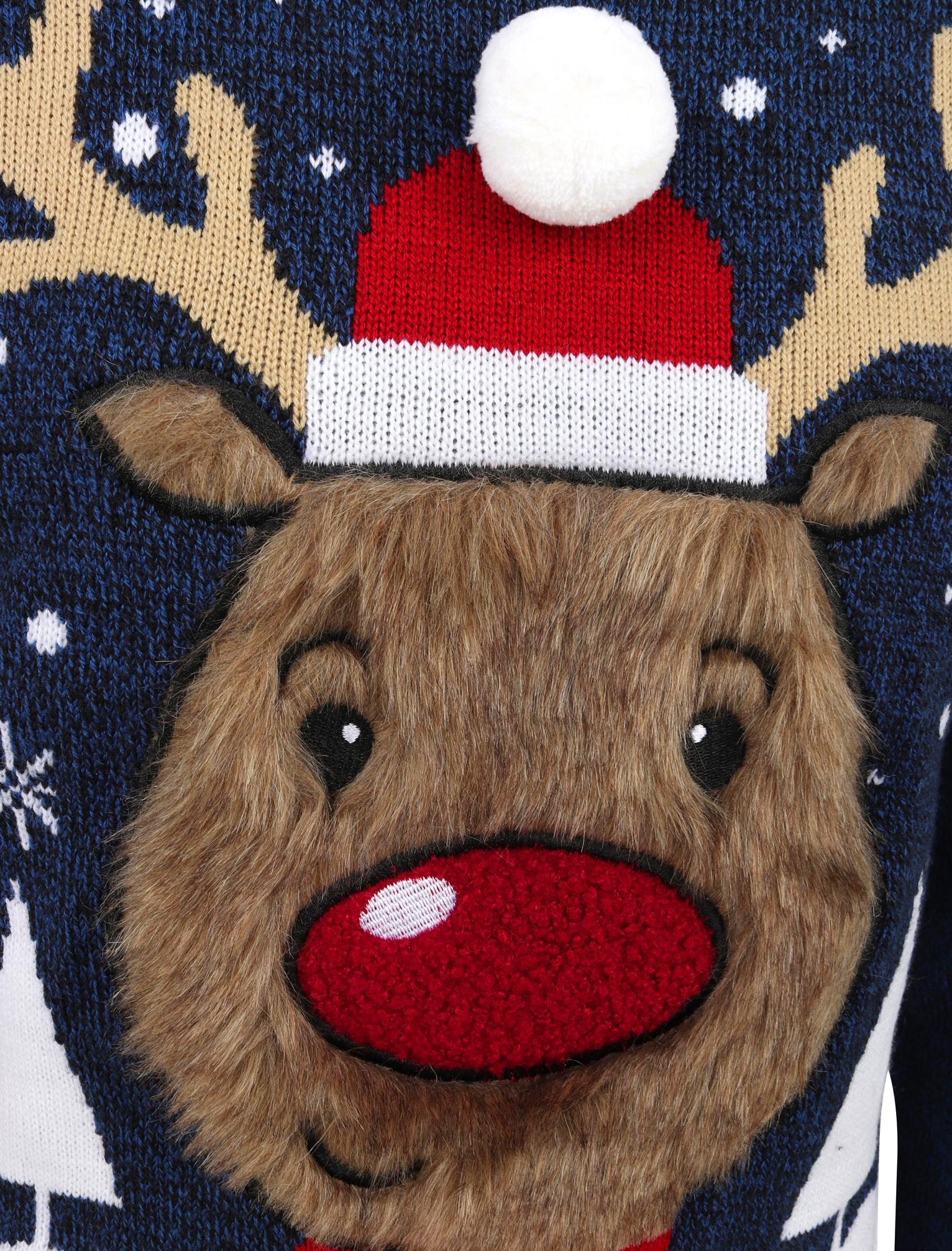 Feliz-Navidad-Para-Hombre-Novedad-Navidad-Sueter-Santa-Elfo-Reno-divertido-Cerveza miniatura 107