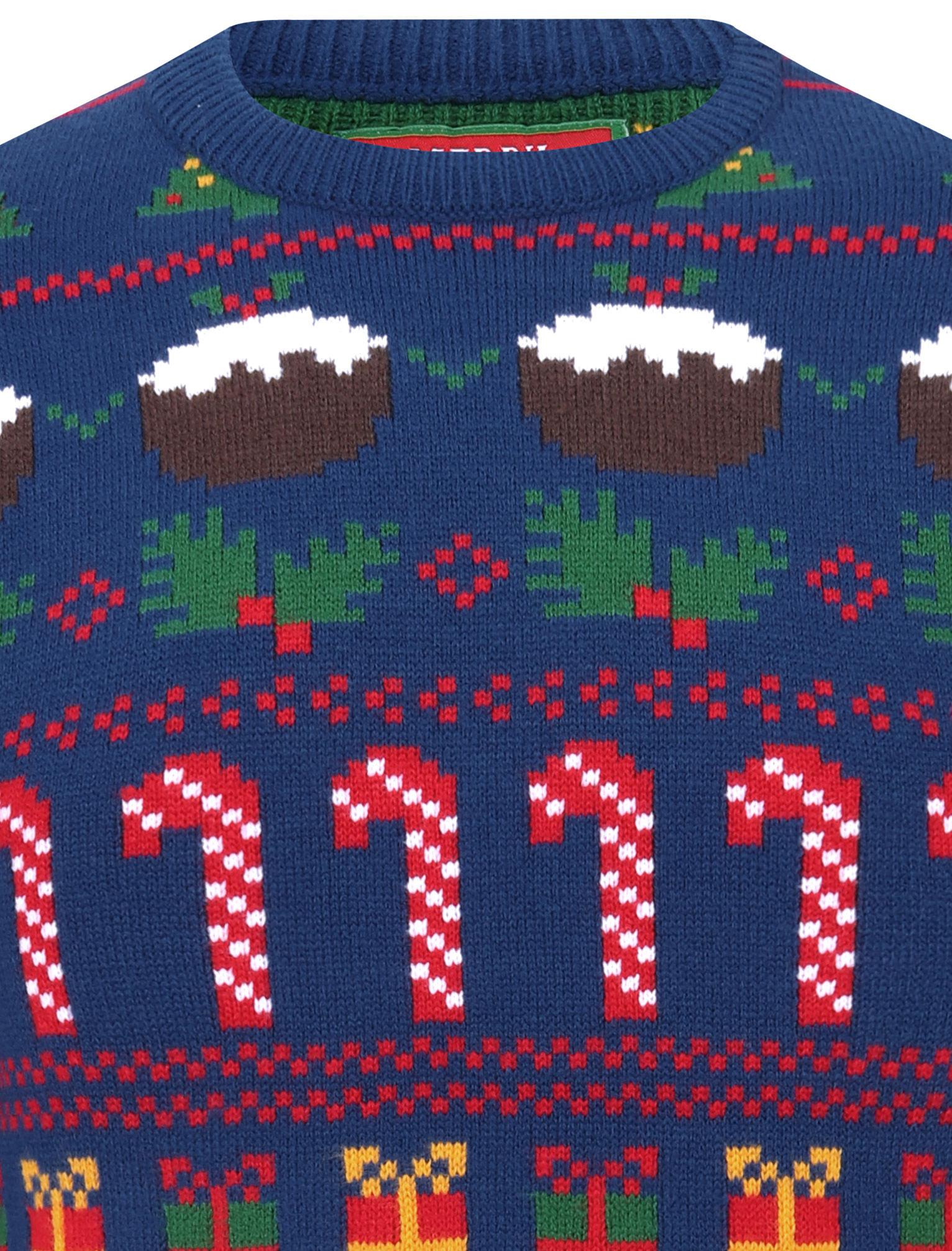 Feliz-Navidad-Para-Hombre-Novedad-Navidad-Sueter-Santa-Elfo-Reno-divertido-Cerveza miniatura 8