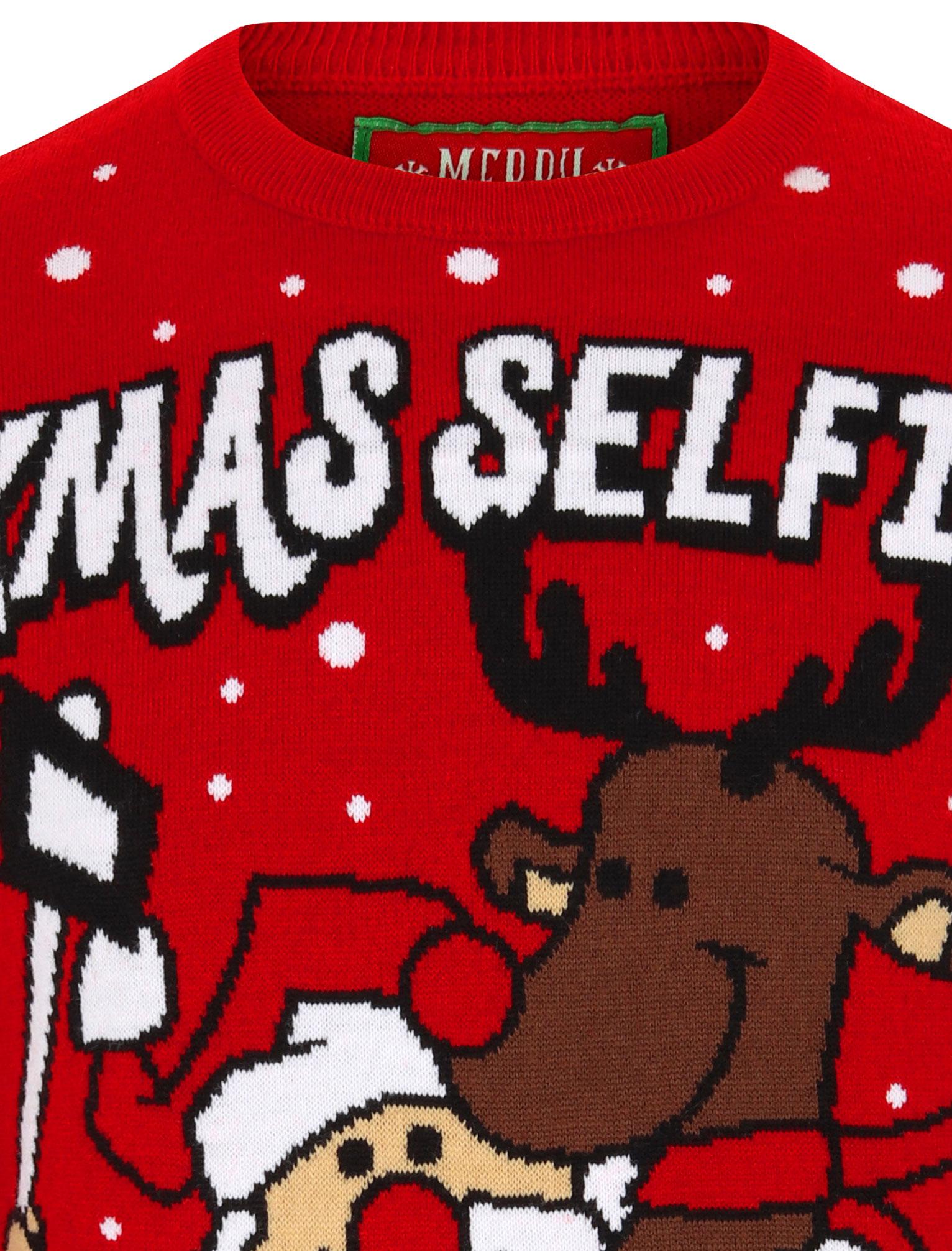 Feliz-Navidad-Para-Hombre-Novedad-Navidad-Sueter-Santa-Elfo-Reno-divertido-Cerveza miniatura 110