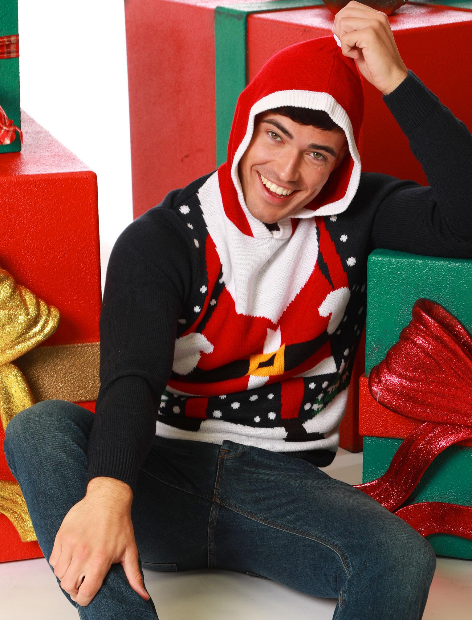 Feliz-Navidad-Para-Hombre-Novedad-Navidad-Sueter-Santa-Elfo-Reno-divertido-Cerveza miniatura 79