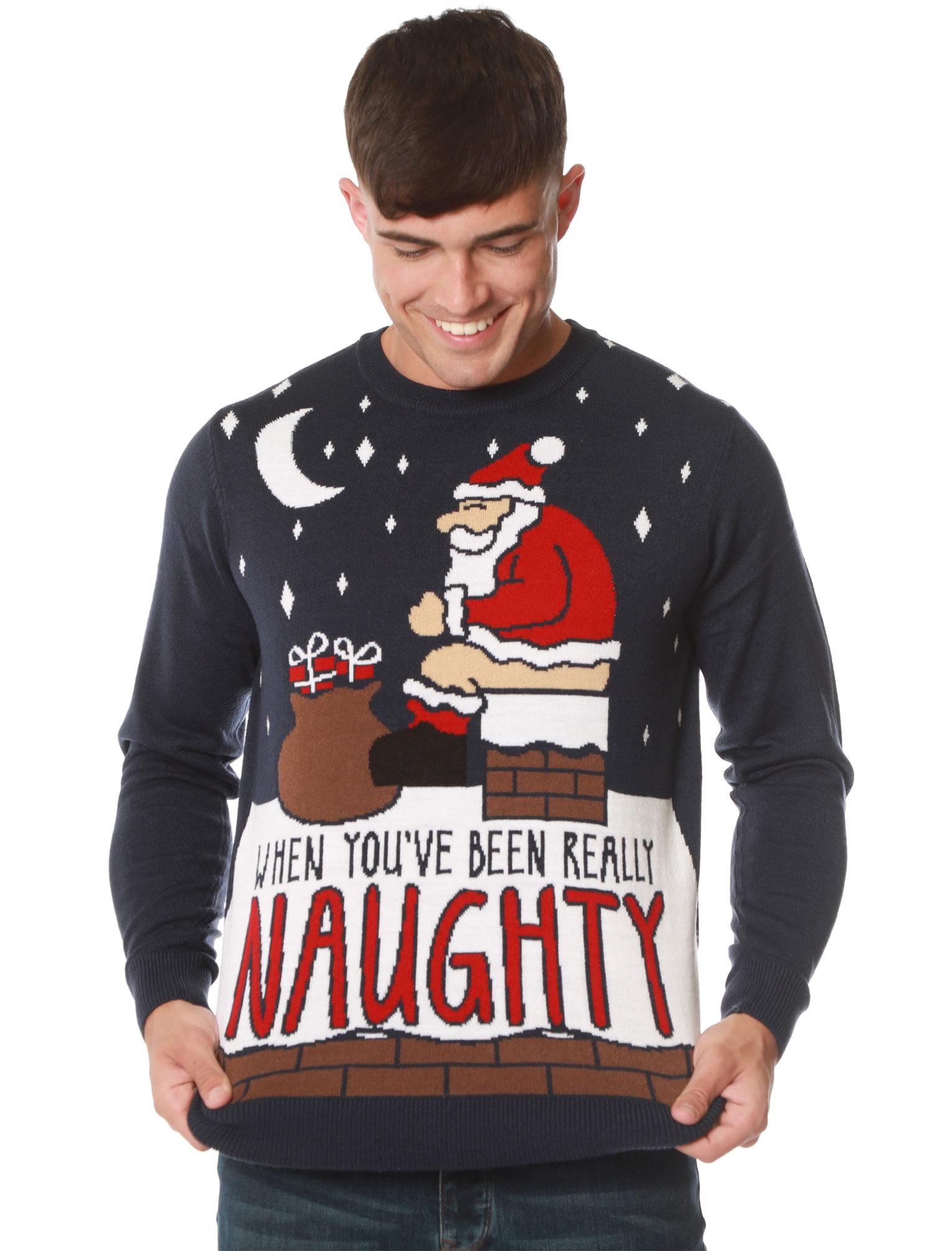 Feliz-Navidad-Para-Hombre-Novedad-Navidad-Sueter-Santa-Elfo-Reno-divertido-Cerveza miniatura 50