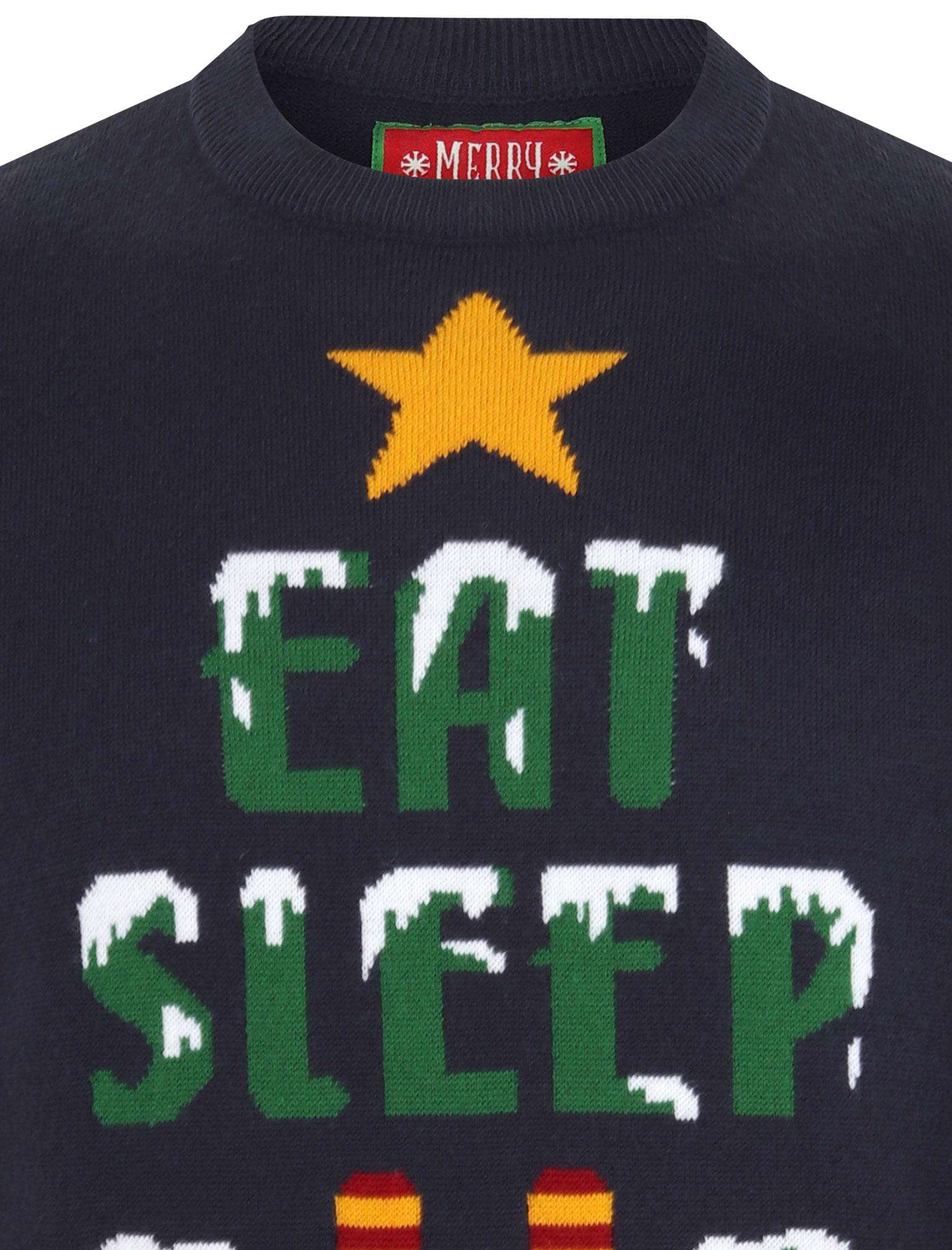 Feliz-Navidad-Para-Hombre-Novedad-Navidad-Sueter-Santa-Elfo-Reno-divertido-Cerveza miniatura 30