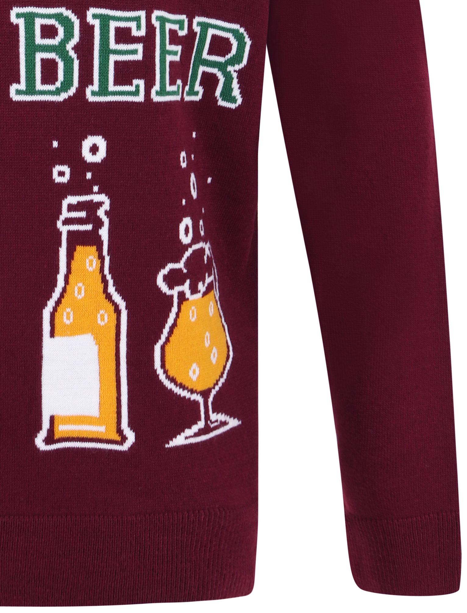 Feliz-Navidad-Para-Hombre-Novedad-Navidad-Sueter-Santa-Elfo-Reno-divertido-Cerveza miniatura 13