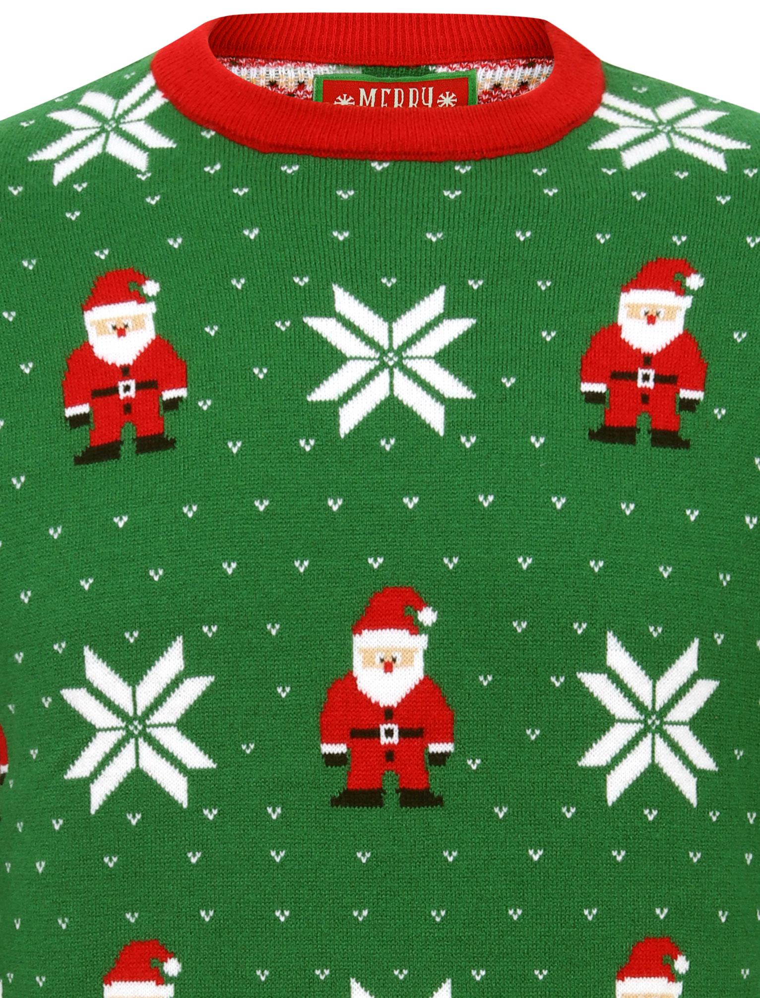 Feliz-Navidad-Para-Hombre-Novedad-Navidad-Sueter-Santa-Elfo-Reno-divertido-Cerveza miniatura 75