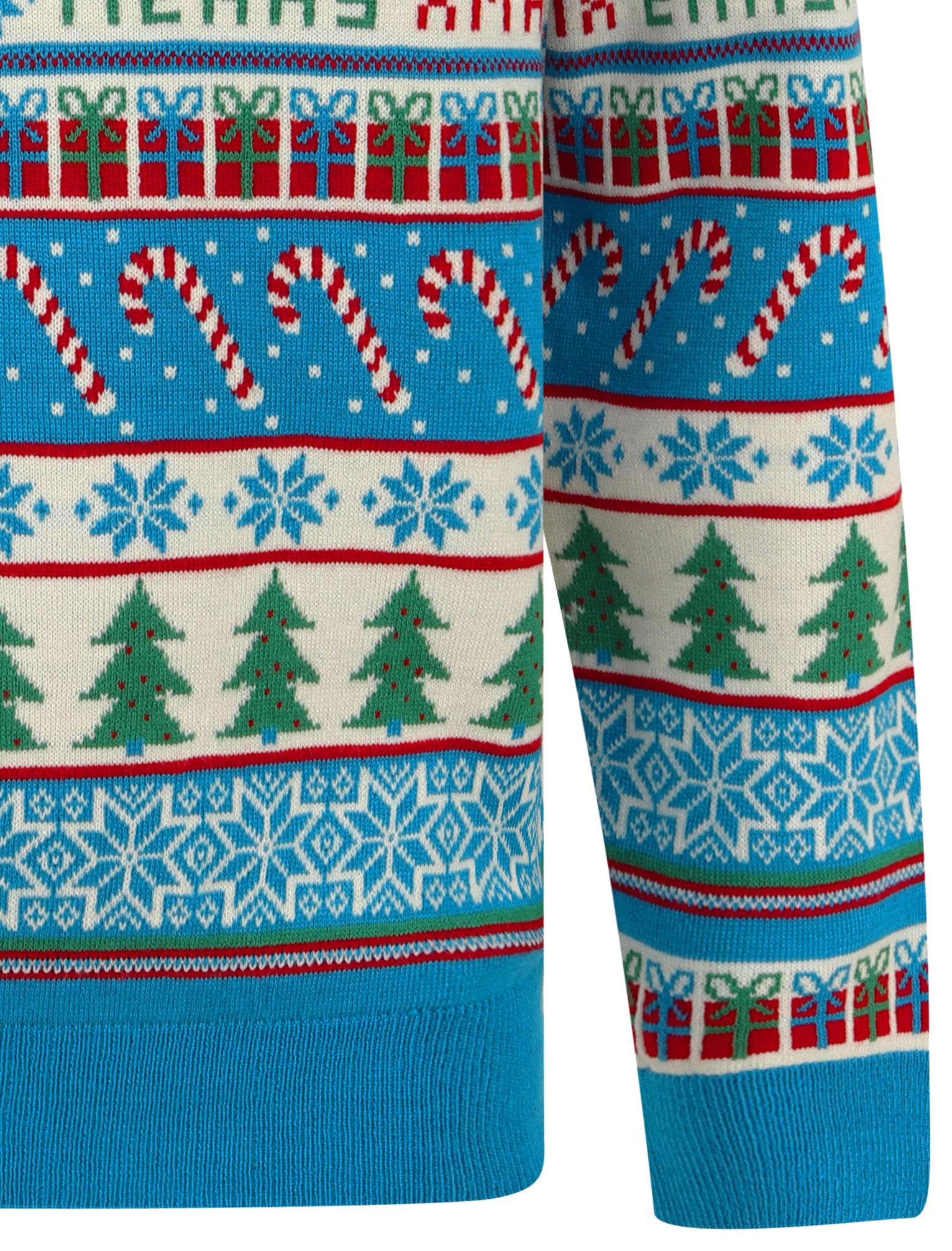 Feliz-Navidad-Para-Hombre-Novedad-Navidad-Sueter-Santa-Elfo-Reno-divertido-Cerveza miniatura 120