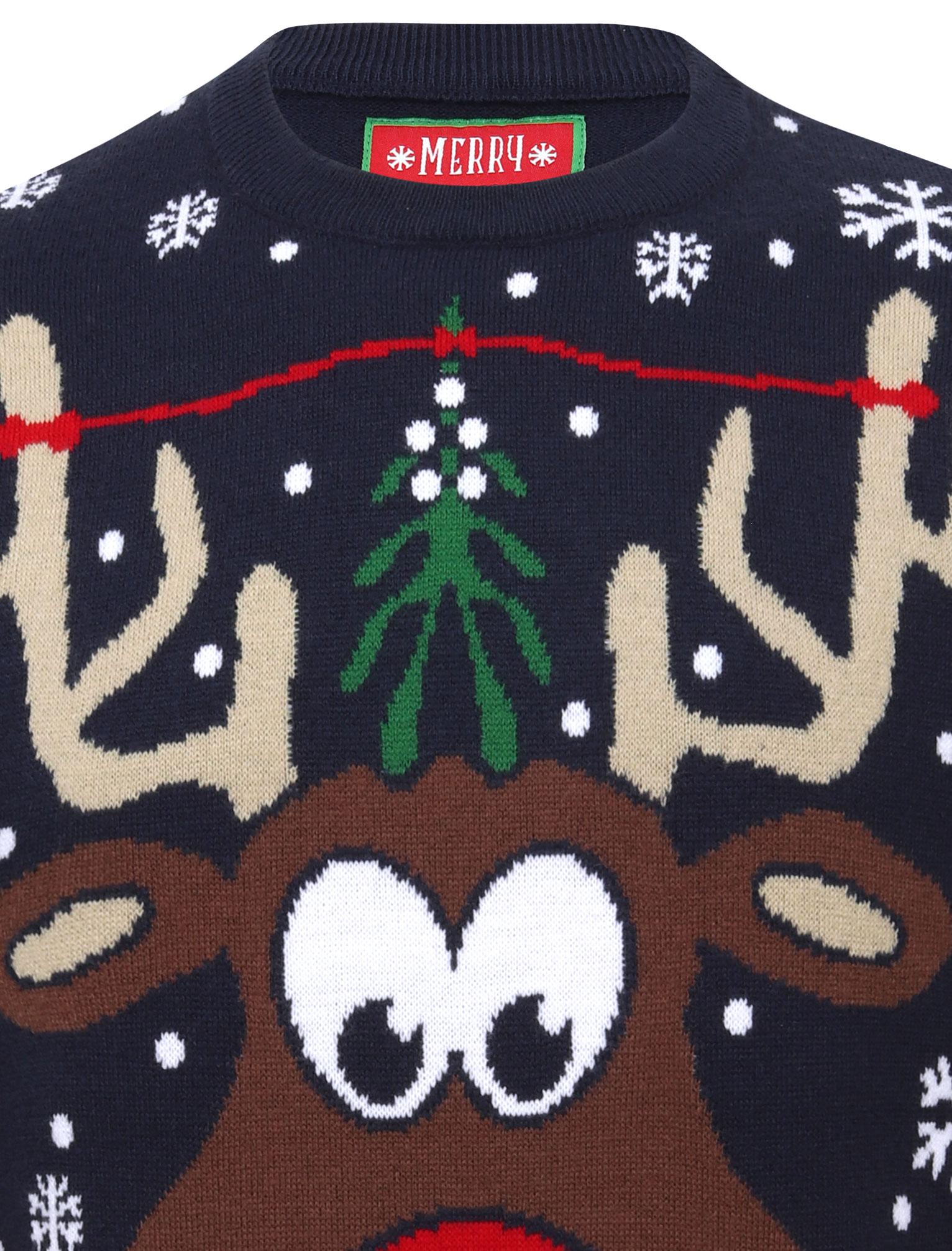 Feliz-Navidad-Para-Hombre-Novedad-Navidad-Sueter-Santa-Elfo-Reno-divertido-Cerveza miniatura 63