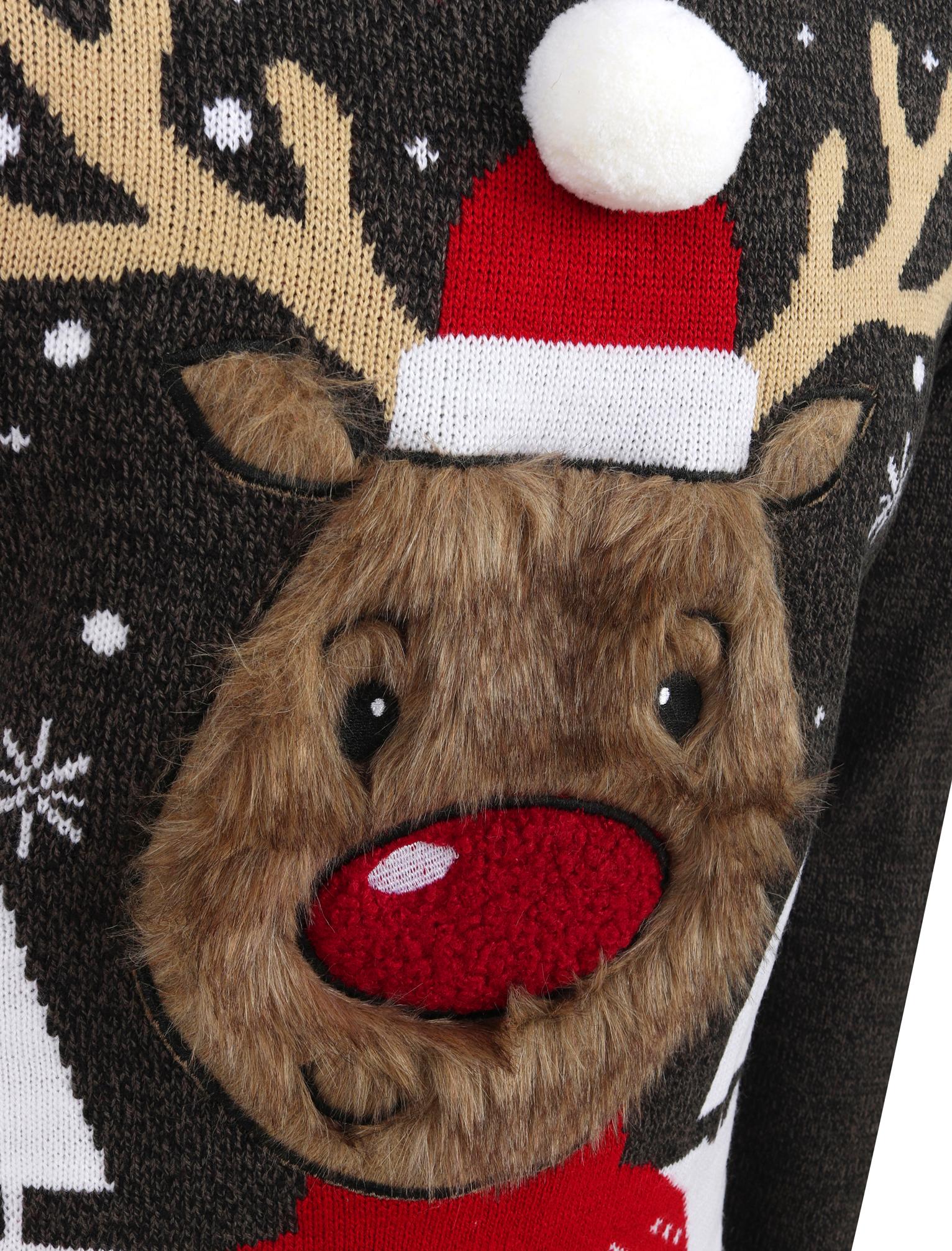 Feliz-Navidad-Para-Hombre-Novedad-Navidad-Sueter-Santa-Elfo-Reno-divertido-Cerveza miniatura 103