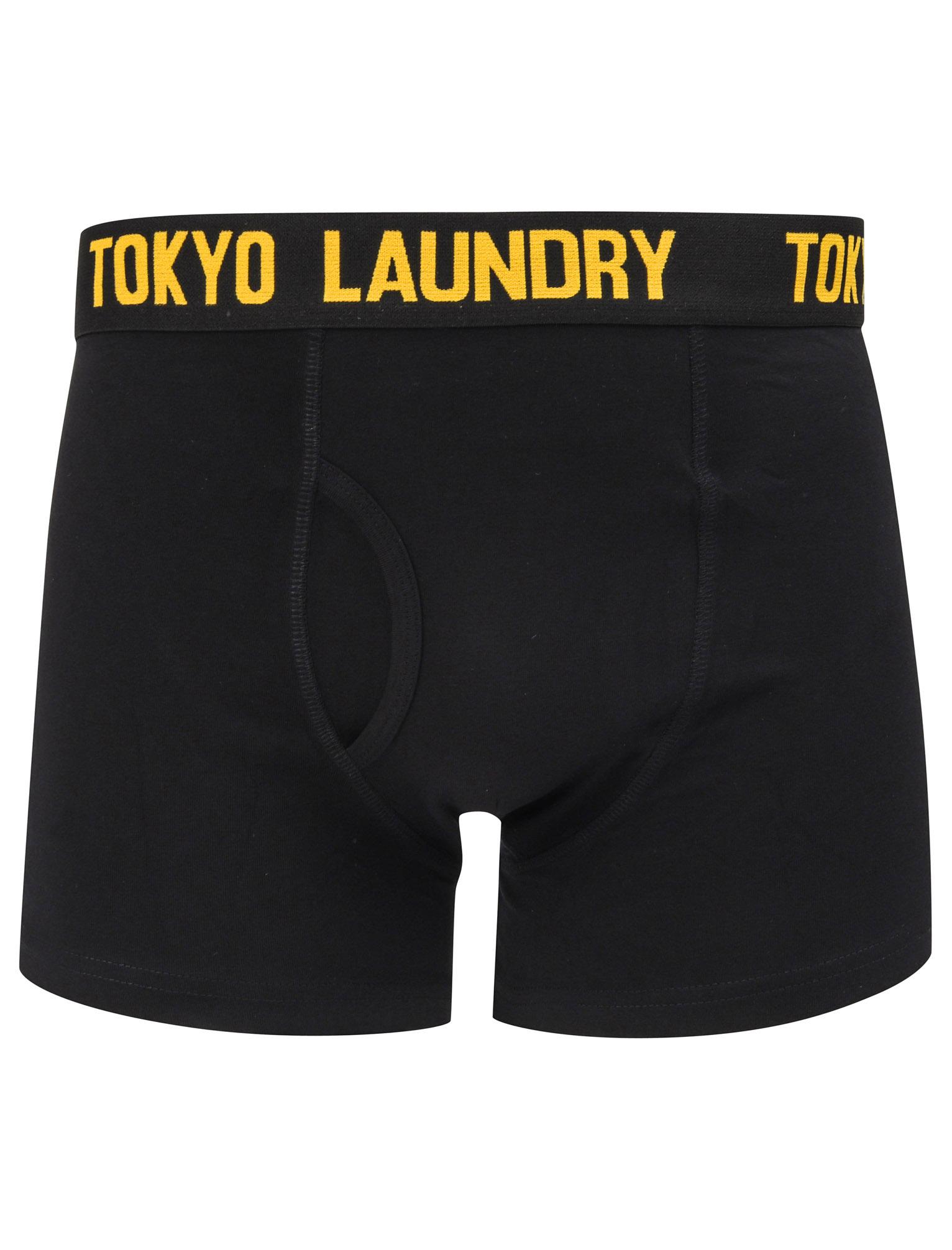 New-Mens-Tokyo-Laundry-2-Pack-Cotton-Rich-Boxer-Shorts-Set-Trunks-Size-S-XXL thumbnail 80