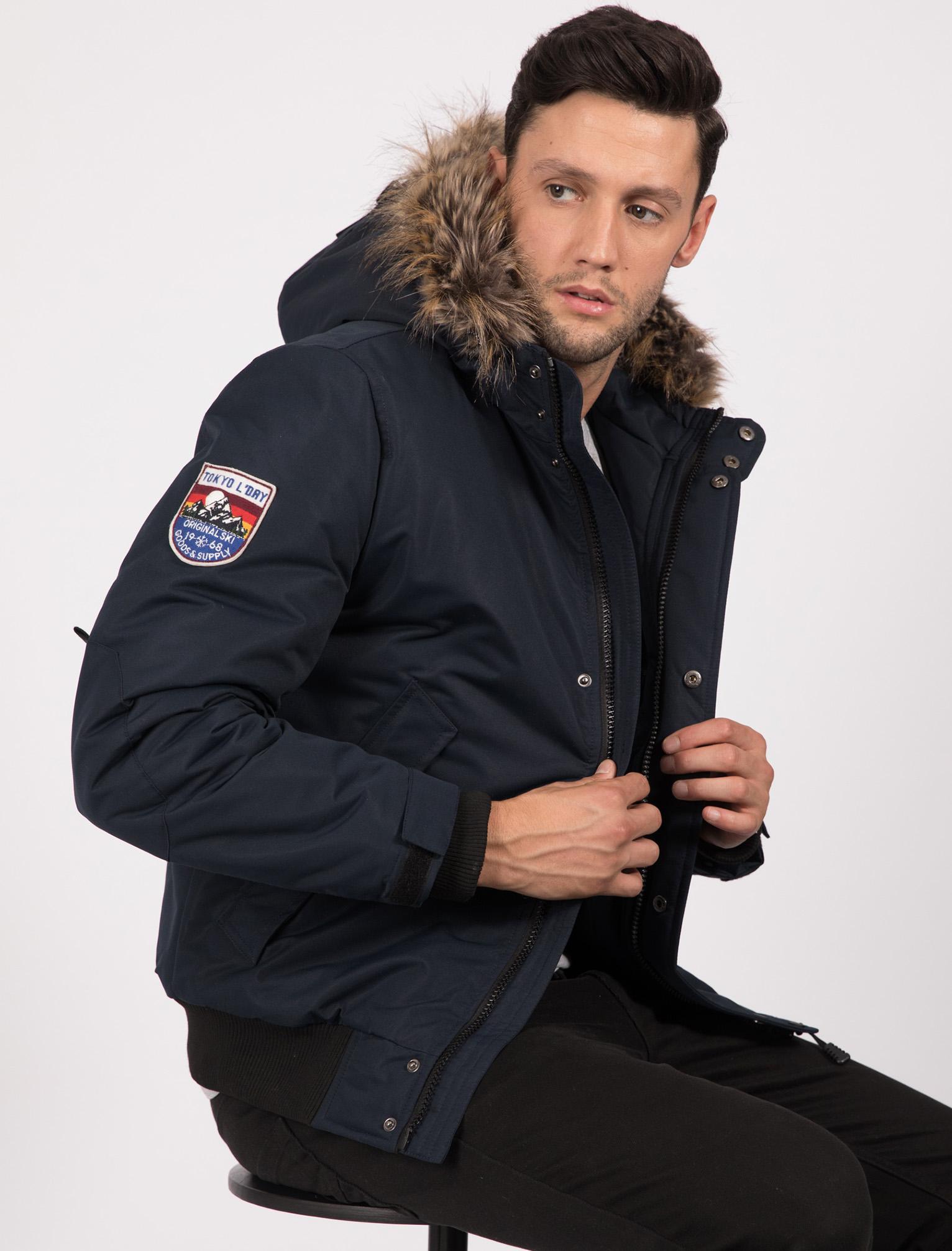 S uomo Laundry True con M Giubbotto Navy bomber da Bomber cappuccio Tokyo Blue da Xl uomo L taglia Xxl WPS1Snp