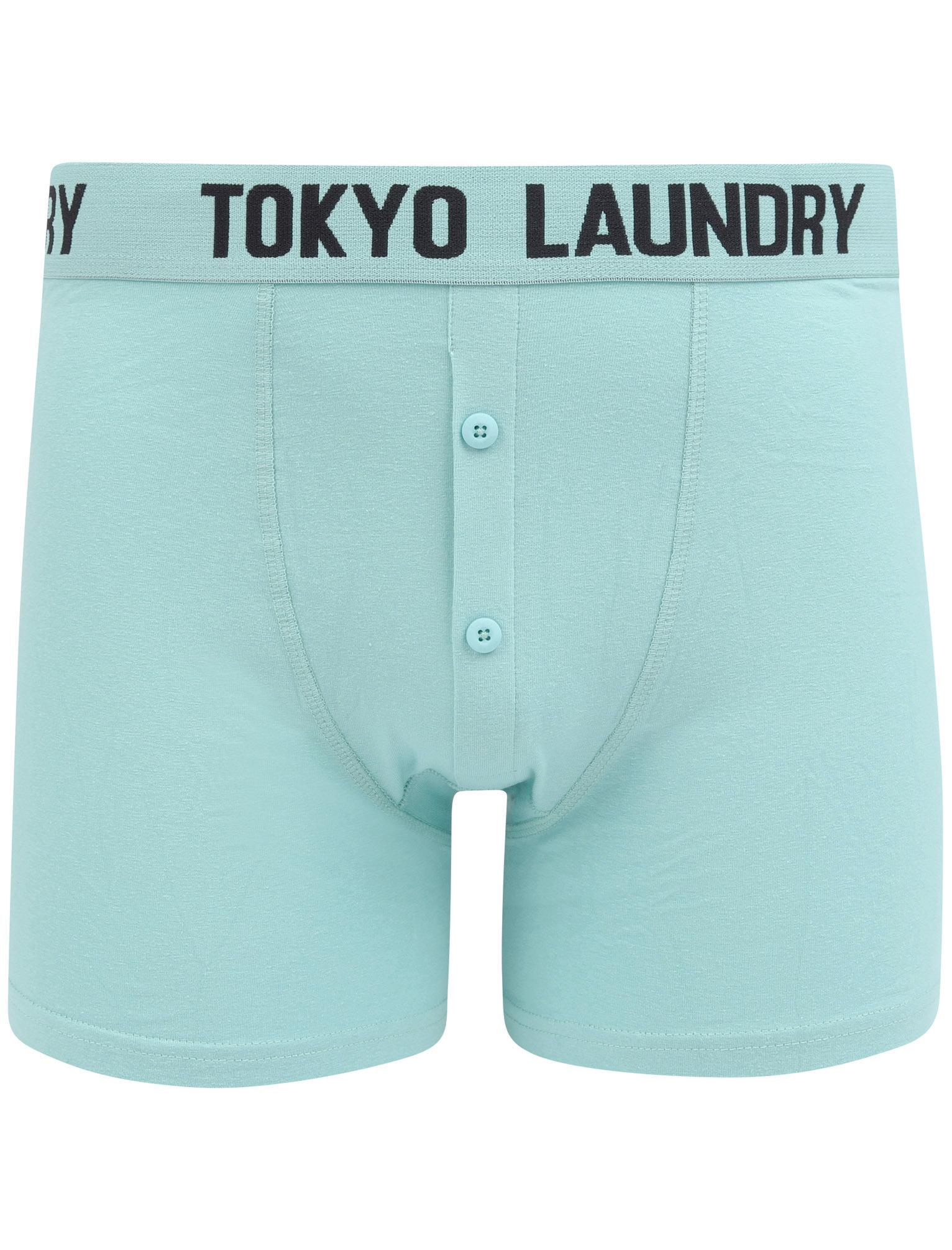New-Mens-Tokyo-Laundry-2-Pack-Buttoned-Cotton-Rich-Boxer-Shorts-Set-Size-S-XXL thumbnail 15
